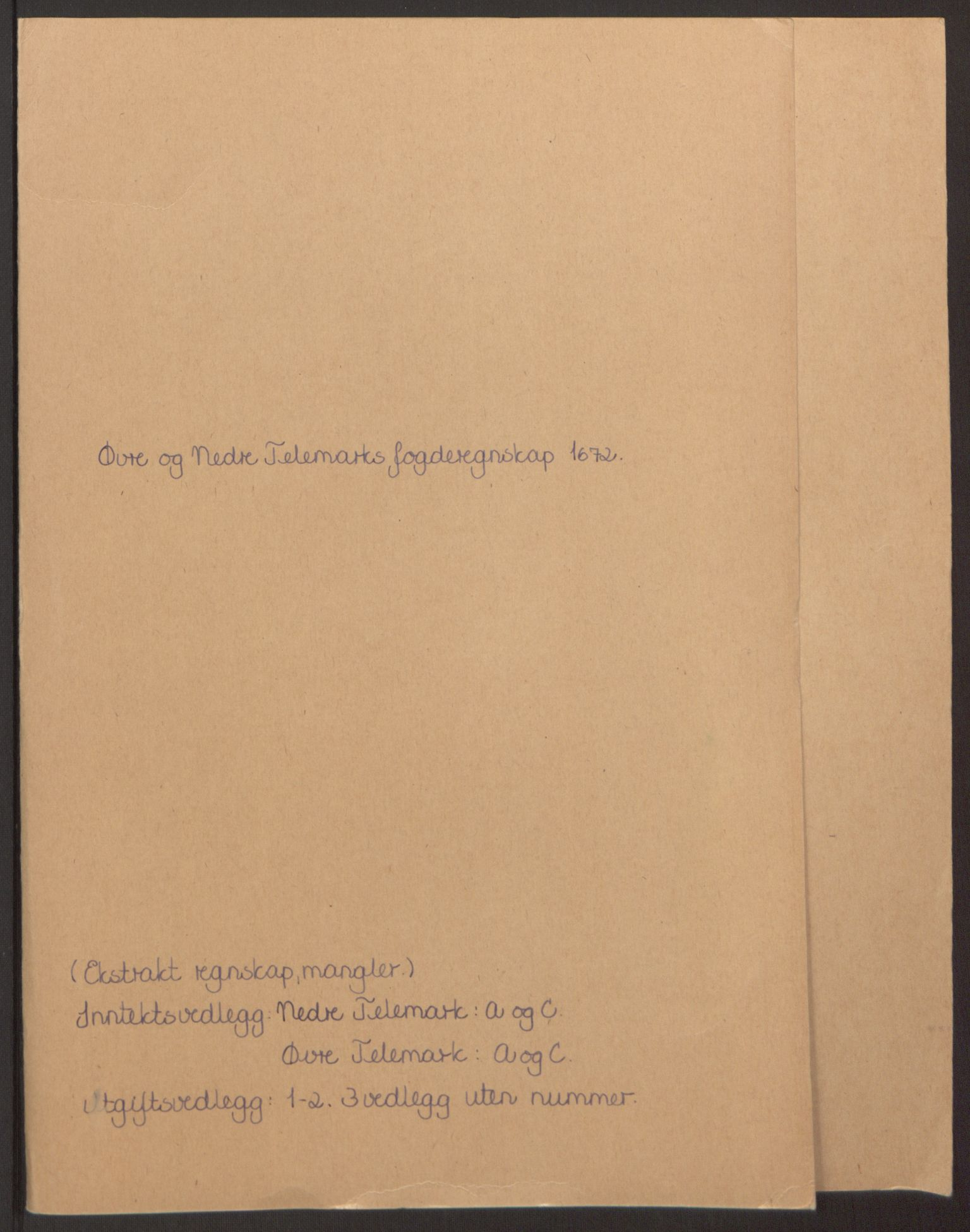 RA, Rentekammeret inntil 1814, Reviderte regnskaper, Fogderegnskap, R35/L2060: Fogderegnskap Øvre og Nedre Telemark, 1671-1672, s. 226
