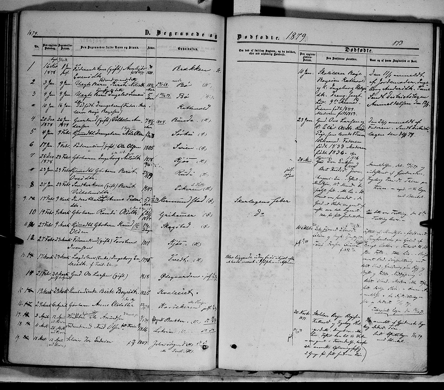 SAH, Vang prestekontor, Valdres, Ministerialbok nr. 7, 1865-1881, s. 173