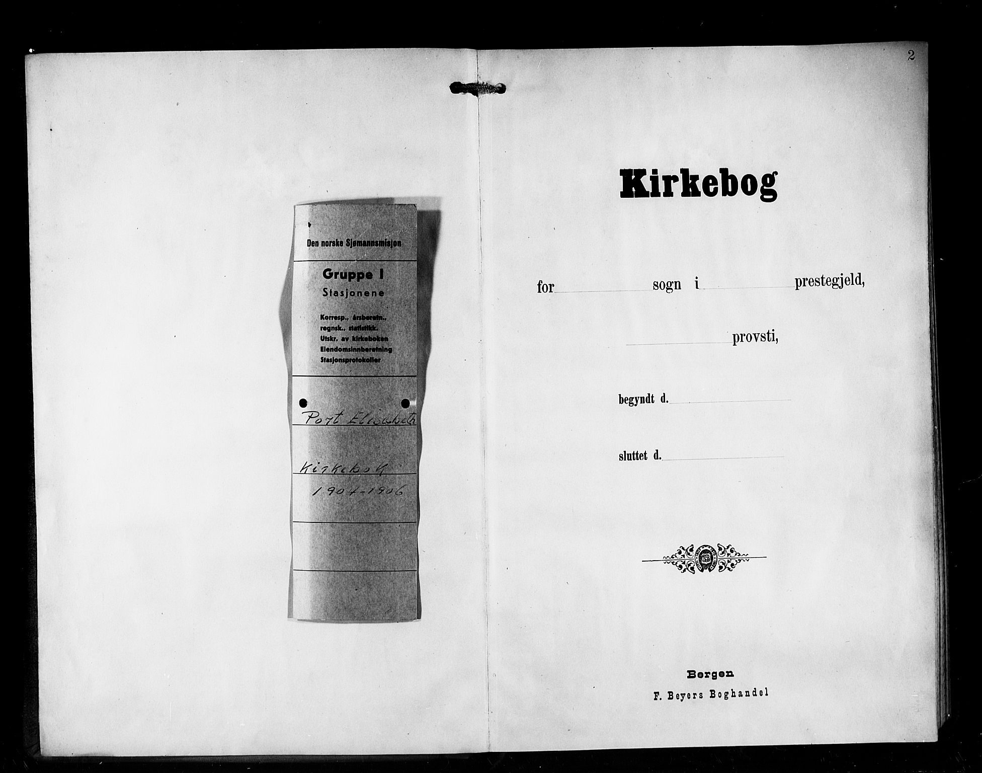 SAB, Den Norske Sjømannsmisjon i utlandet*, Ministerialbok nr. A 1, 1903-1906