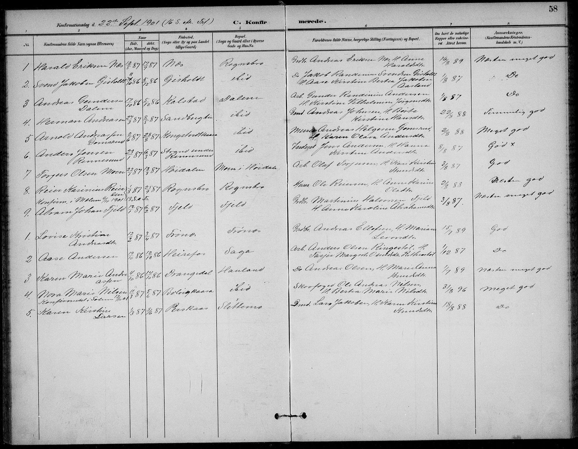 SAKO, Solum kirkebøker, F/Fc/L0002: Ministerialbok nr. III 2, 1892-1906, s. 58