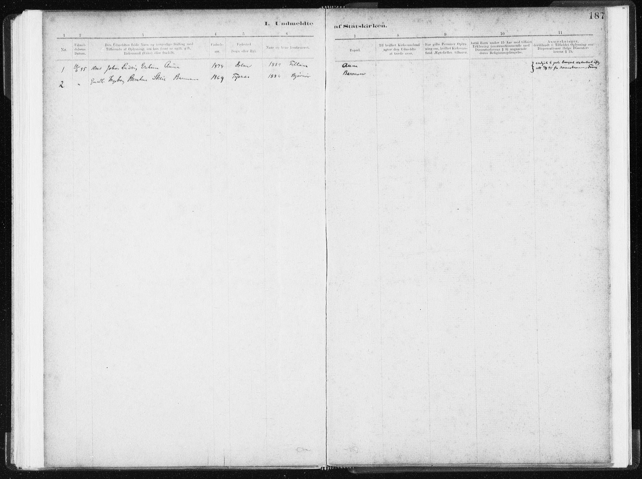 SAT, Ministerialprotokoller, klokkerbøker og fødselsregistre - Sør-Trøndelag, 634/L0533: Ministerialbok nr. 634A09, 1882-1901, s. 187