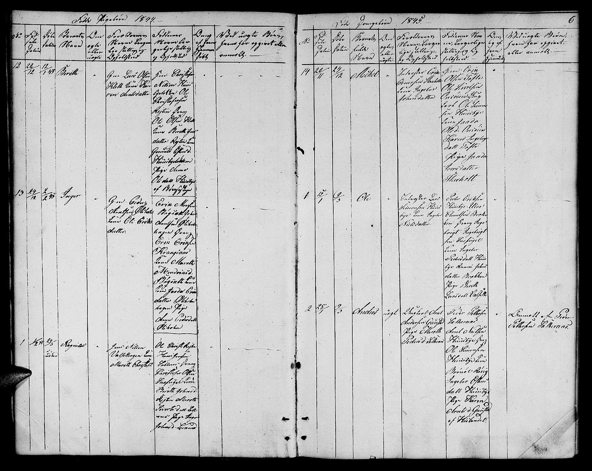 SAT, Ministerialprotokoller, klokkerbøker og fødselsregistre - Sør-Trøndelag, 666/L0789: Klokkerbok nr. 666C02, 1843-1847, s. 6
