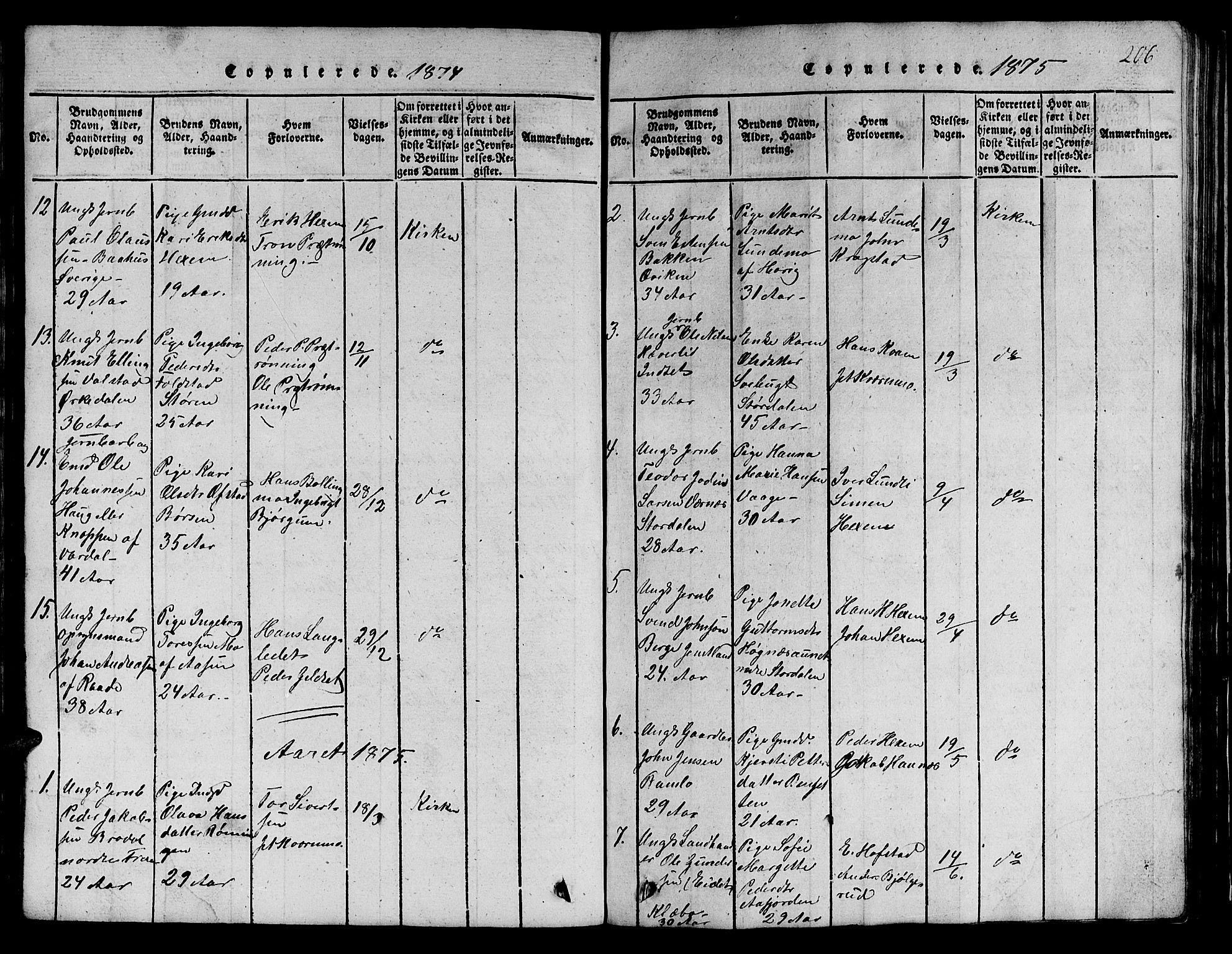 SAT, Ministerialprotokoller, klokkerbøker og fødselsregistre - Sør-Trøndelag, 685/L0976: Klokkerbok nr. 685C01, 1817-1878, s. 206