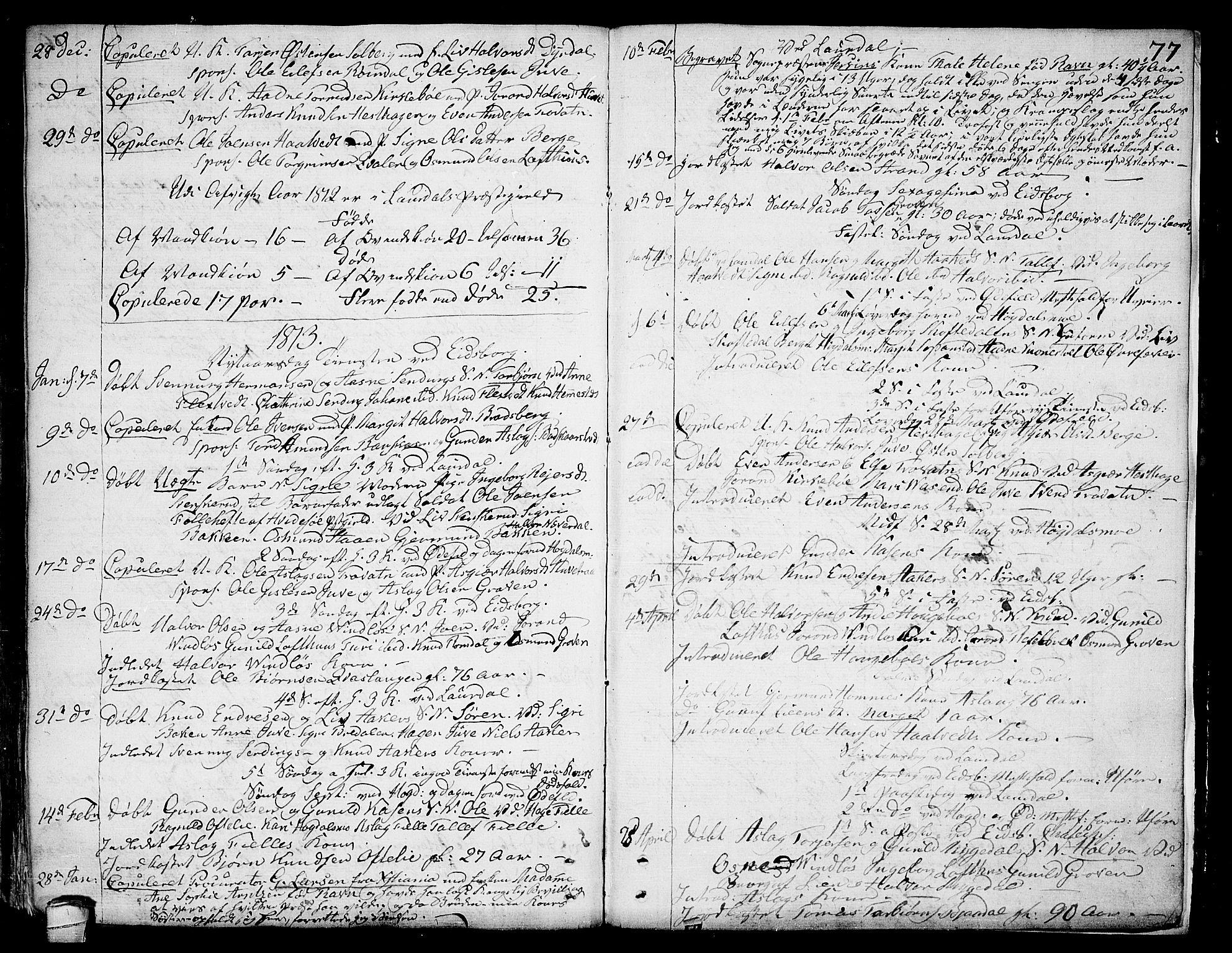 SAKO, Lårdal kirkebøker, F/Fa/L0004: Ministerialbok nr. I 4, 1790-1814, s. 77