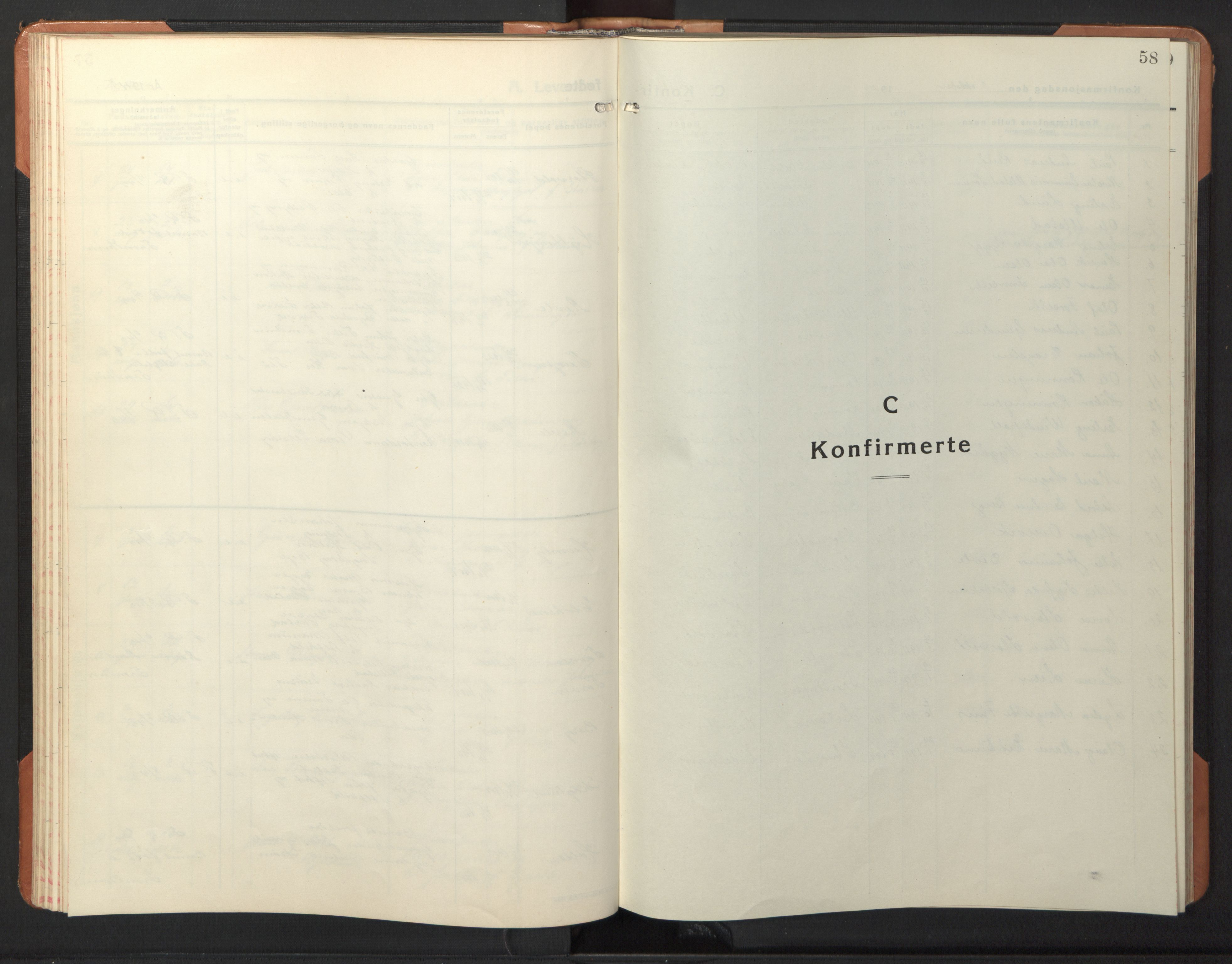 SAT, Ministerialprotokoller, klokkerbøker og fødselsregistre - Sør-Trøndelag, 618/L0454: Klokkerbok nr. 618C05, 1926-1946, s. 58