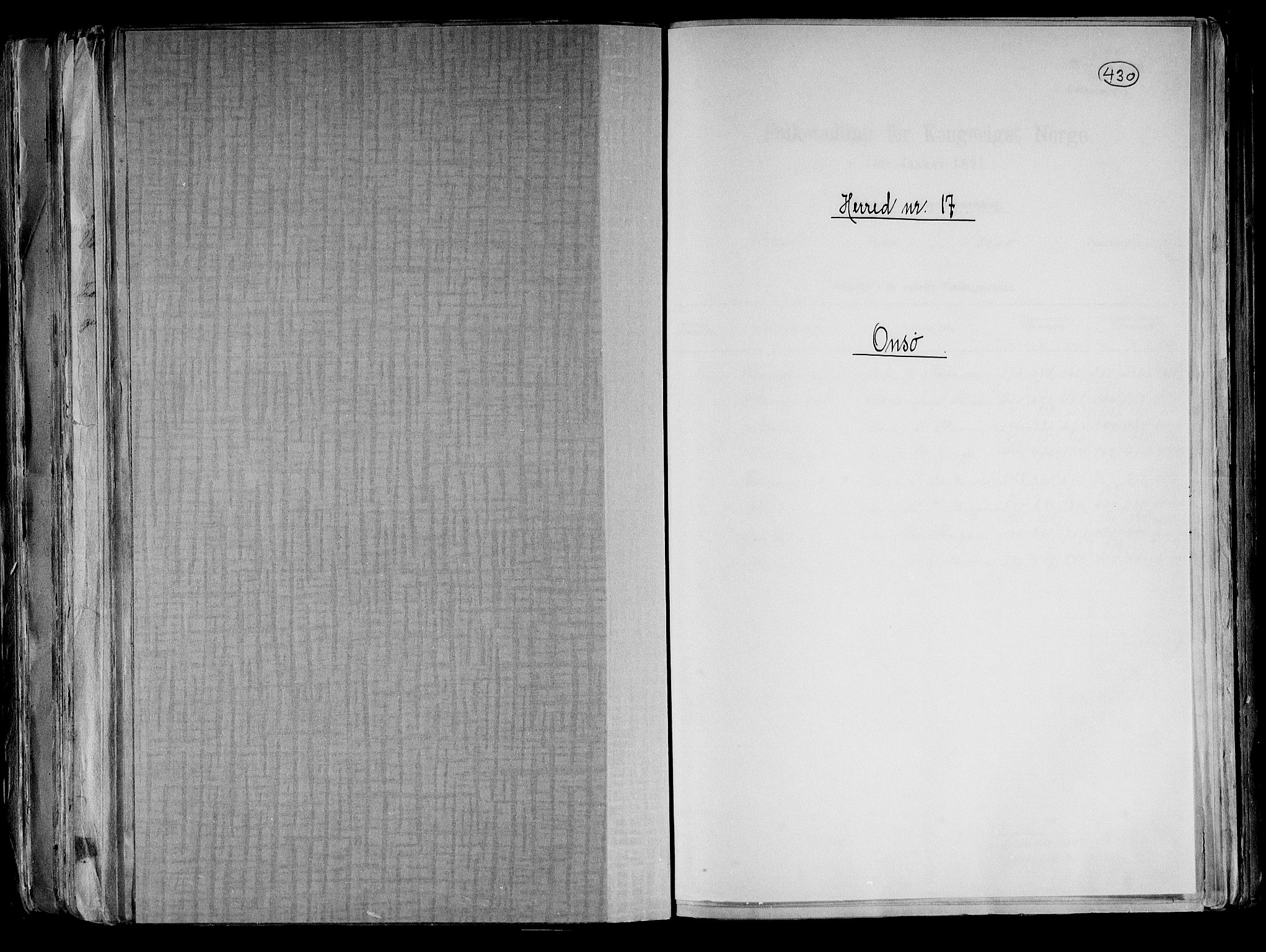 RA, Folketelling 1891 for 0134 Onsøy herred, 1891, s. 1