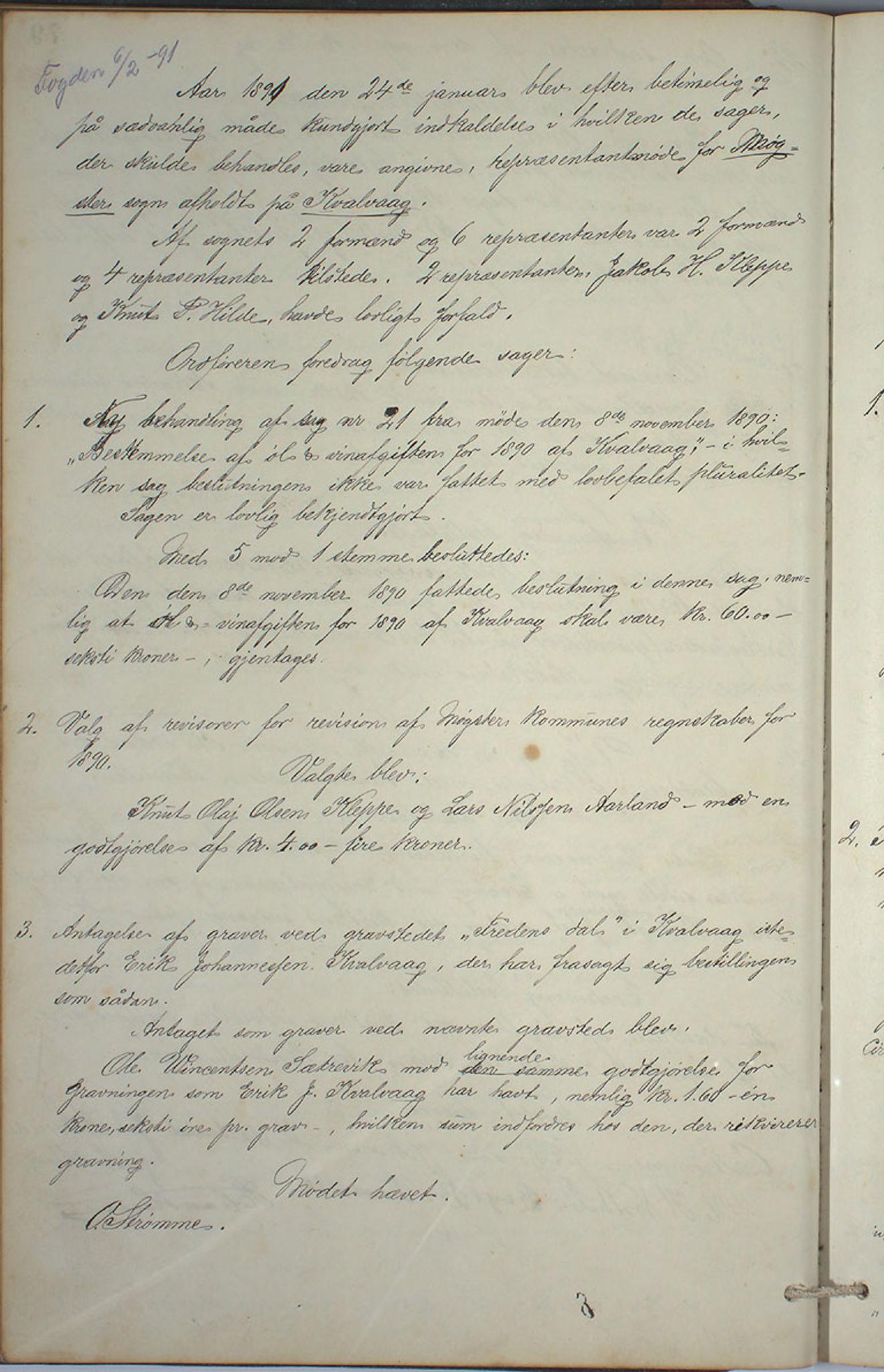 IKAH, Austevoll kommune. Formannskapet, A/Aa/L0001: Østervolds Herredsforhandlings-protokoll, 1886-1900, s. 159