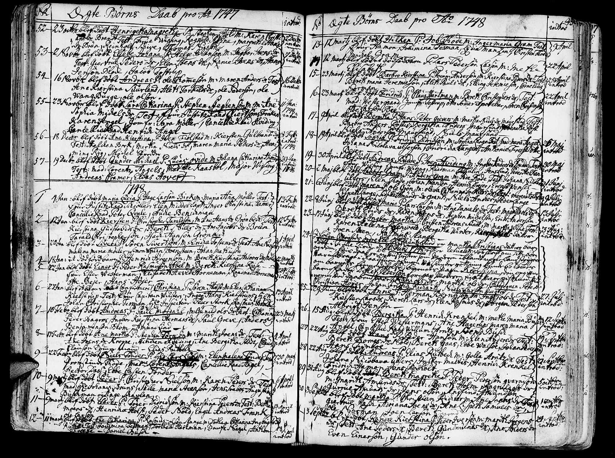 SAT, Ministerialprotokoller, klokkerbøker og fødselsregistre - Sør-Trøndelag, 602/L0103: Ministerialbok nr. 602A01, 1732-1774, s. 43