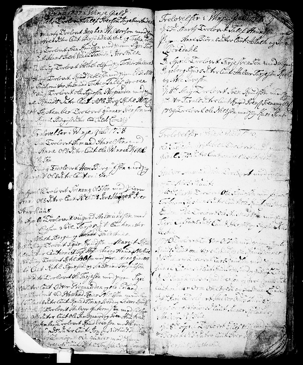 SAKO, Vinje kirkebøker, F/Fa/L0001: Ministerialbok nr. I 1, 1717-1766, s. 7