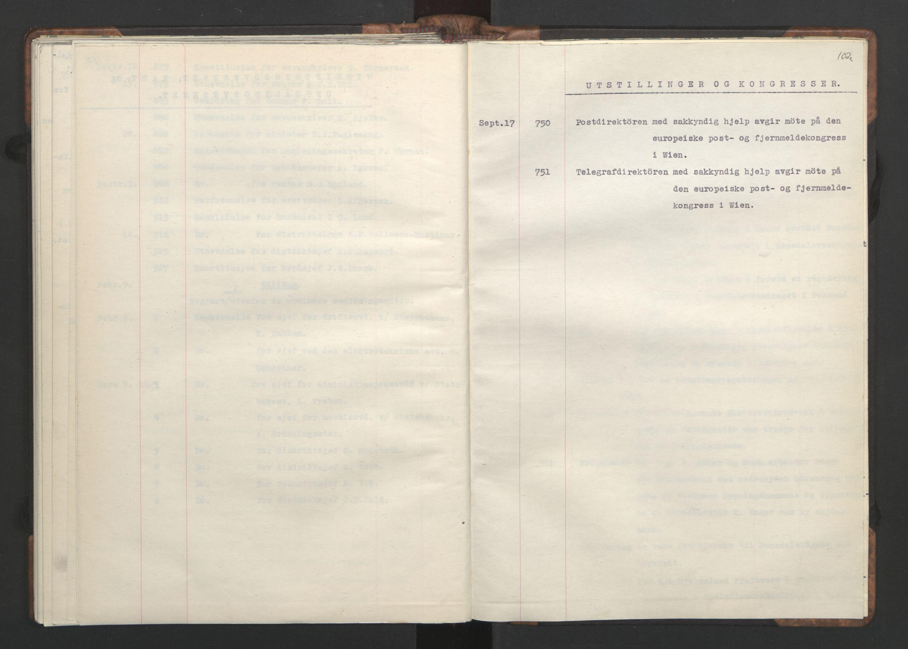 RA, NS-administrasjonen 1940-1945 (Statsrådsekretariatet, de kommisariske statsråder mm), D/Da/L0002: Register (RA j.nr. 985/1943, tilgangsnr. 17/1943), 1942, s. 101b-102a