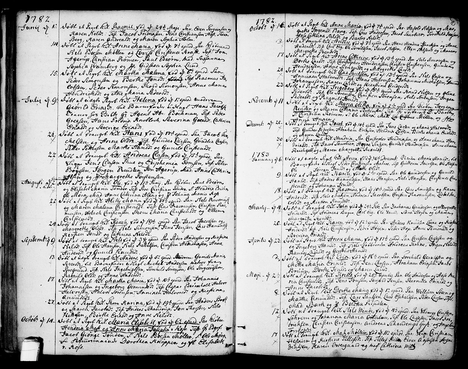 SAKO, Kragerø kirkebøker, F/Fa/L0002: Ministerialbok nr. 2, 1767-1802, s. 49
