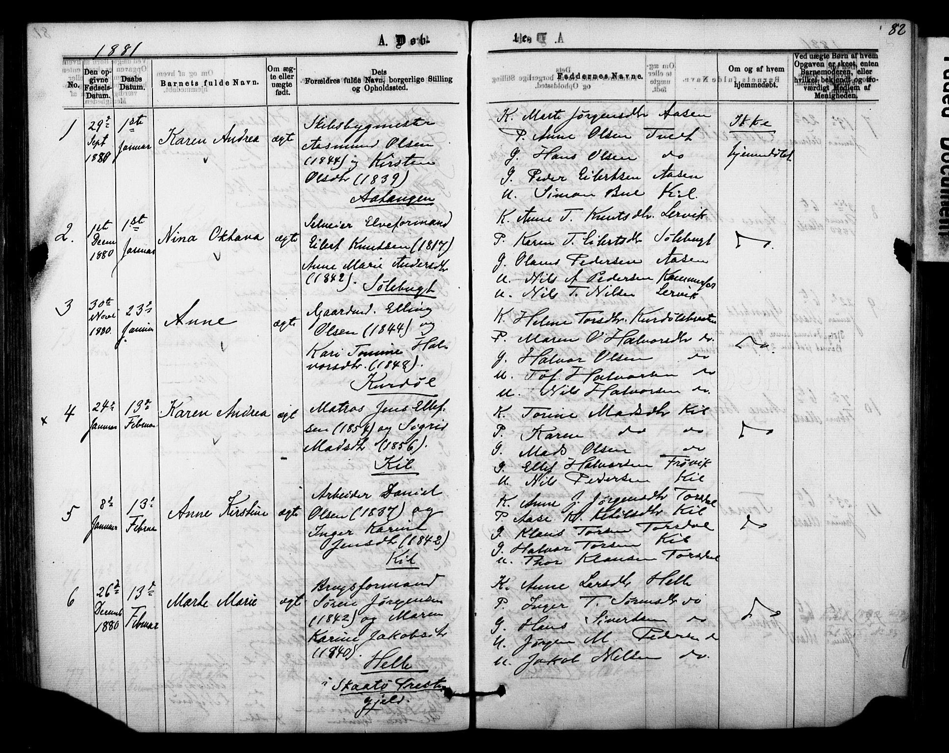 SAKO, Sannidal kirkebøker, F/Fa/L0014: Ministerialbok nr. 14, 1874-1883, s. 82