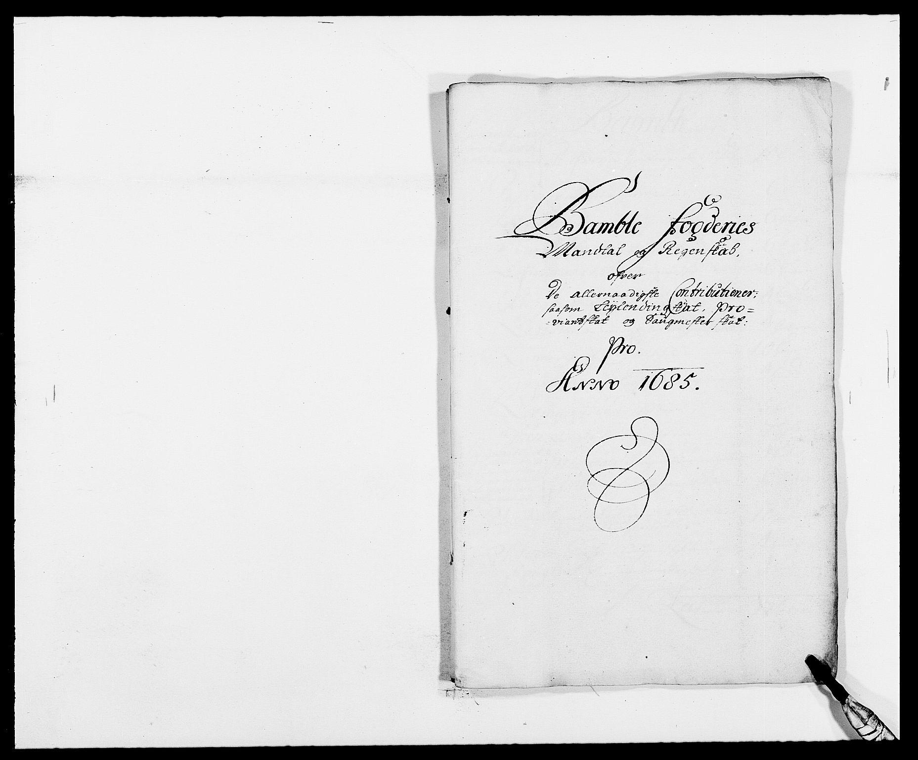 RA, Rentekammeret inntil 1814, Reviderte regnskaper, Fogderegnskap, R34/L2048: Fogderegnskap Bamble, 1685-1687, s. 71
