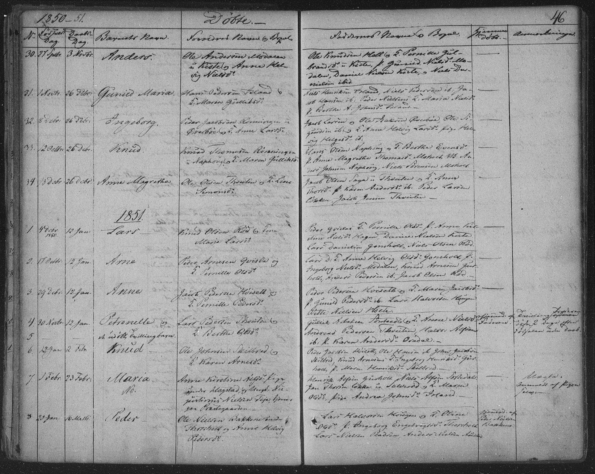 SAKO, Siljan kirkebøker, F/Fa/L0001: Ministerialbok nr. 1, 1831-1870, s. 46