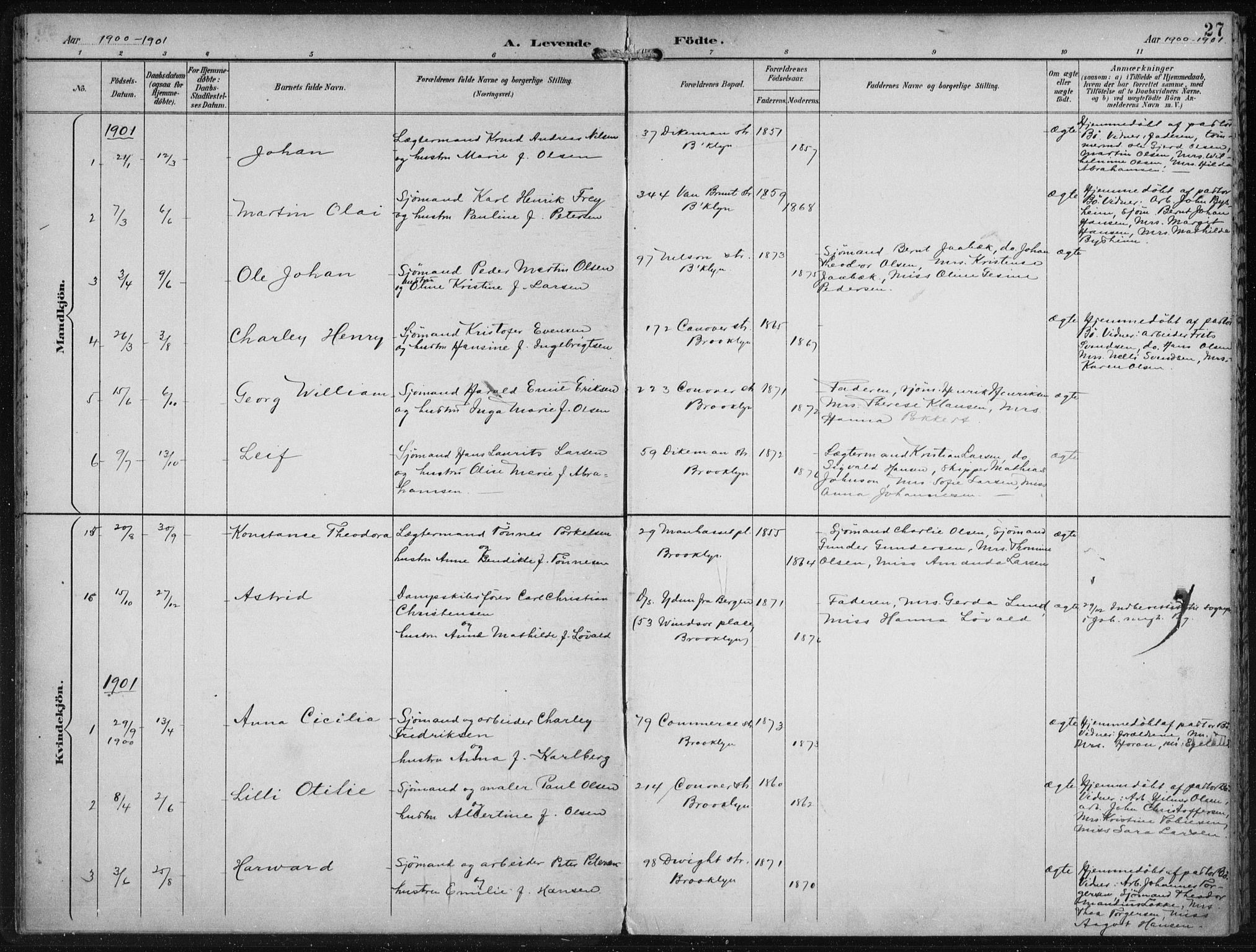 SAB, Den Norske Sjømannsmisjon i utlandet*, Ministerialbok nr. A 4, 1893-1901, s. 27