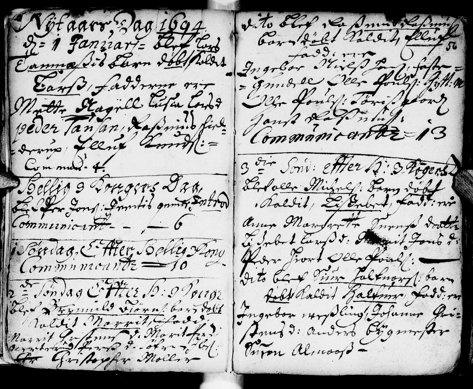 SAT, Ministerialprotokoller, klokkerbøker og fødselsregistre - Sør-Trøndelag, 681/L0923: Ministerialbok nr. 681A01, 1691-1700, s. 56