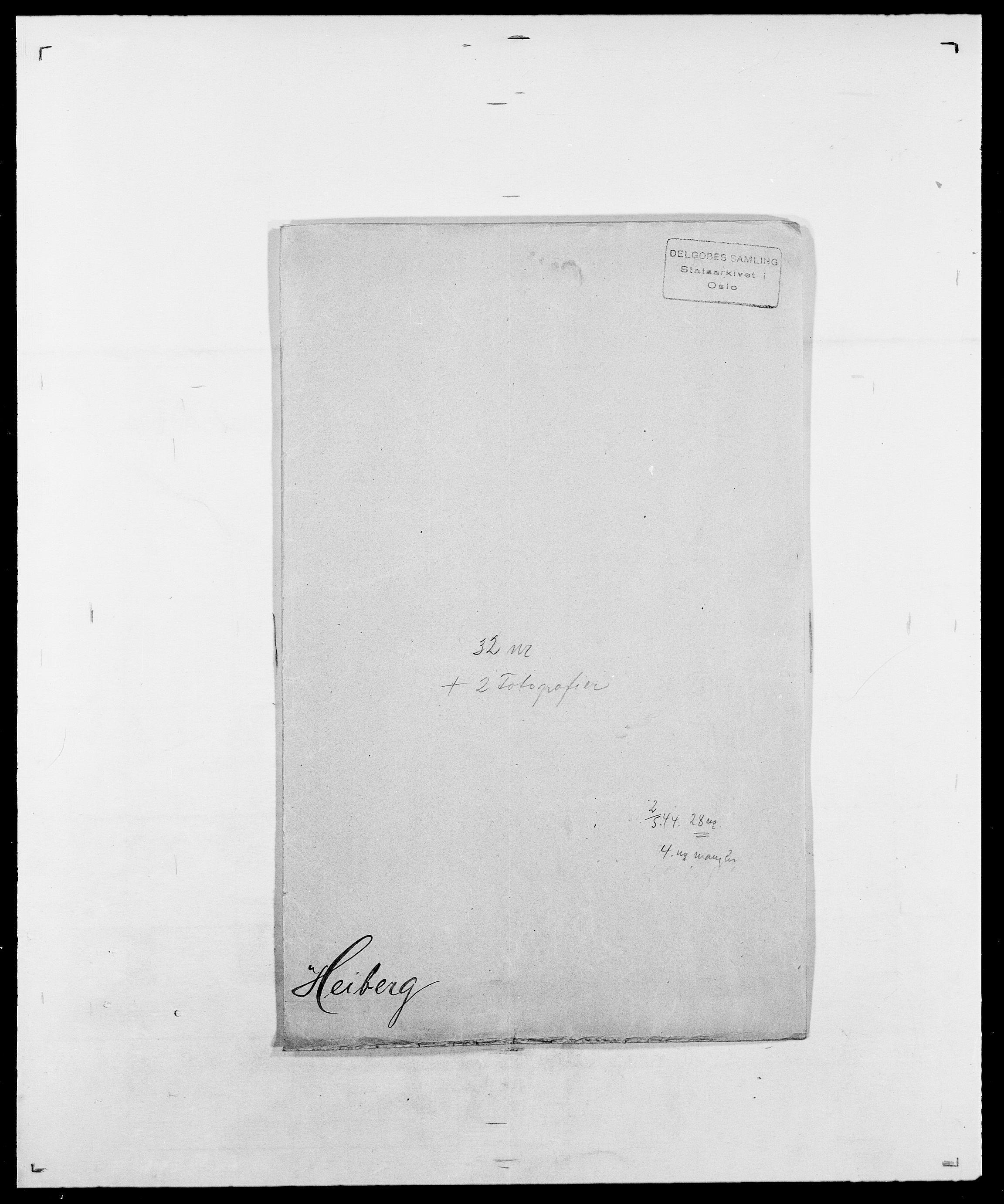 SAO, Delgobe, Charles Antoine - samling, D/Da/L0016: Hamborg - Hektoen, s. 740