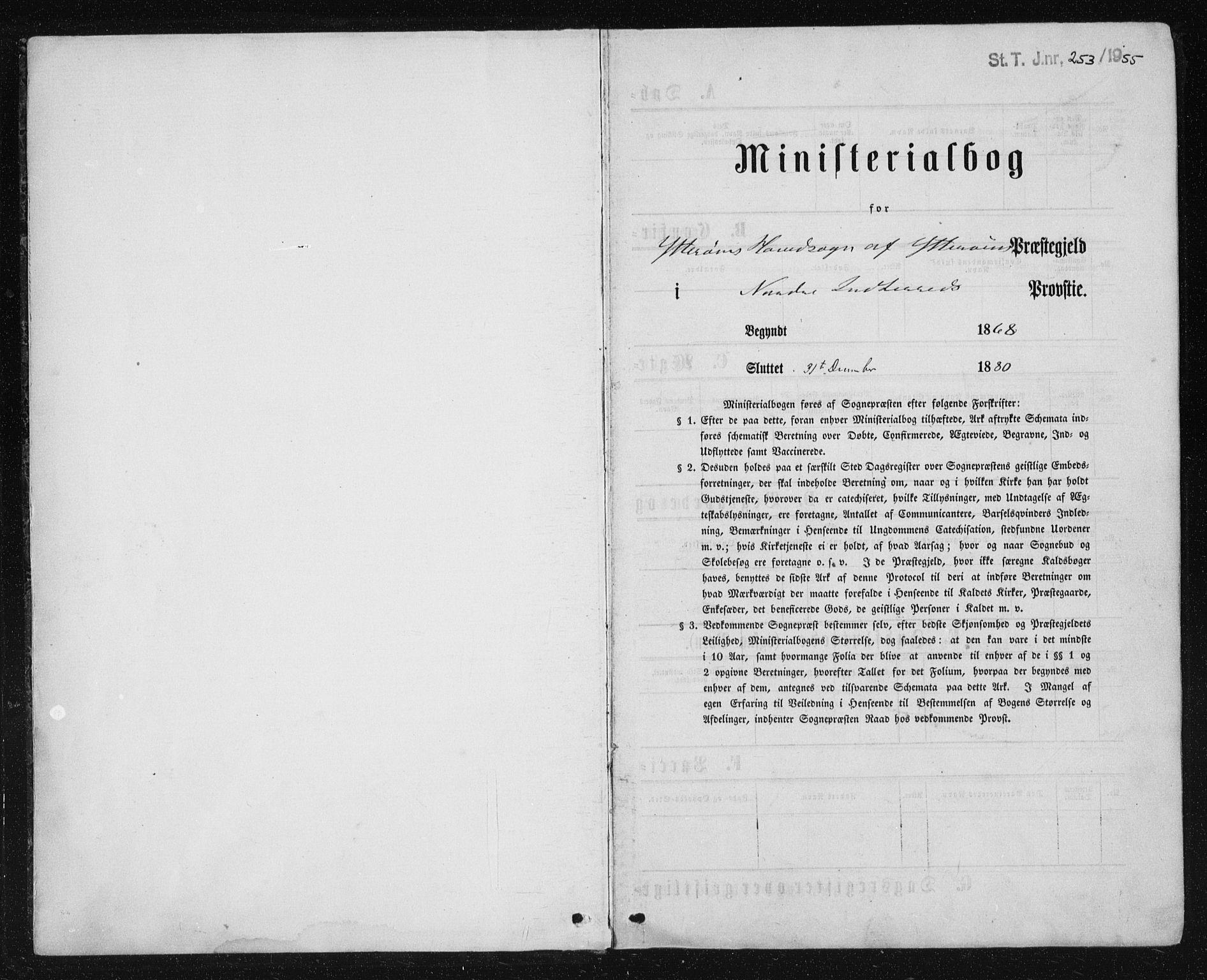 SAT, Ministerialprotokoller, klokkerbøker og fødselsregistre - Nord-Trøndelag, 722/L0219: Ministerialbok nr. 722A06, 1868-1880