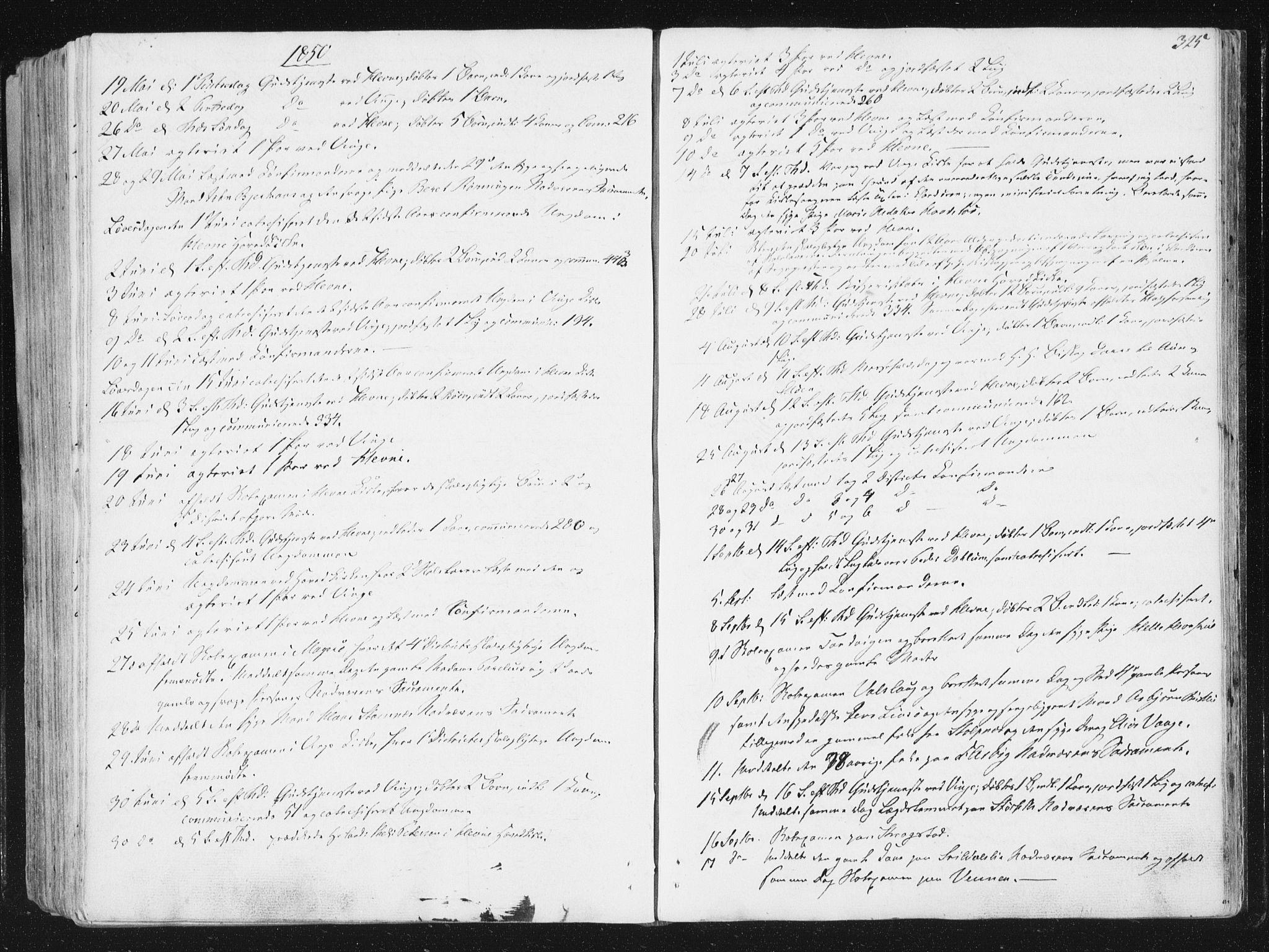 SAT, Ministerialprotokoller, klokkerbøker og fødselsregistre - Sør-Trøndelag, 630/L0493: Ministerialbok nr. 630A06, 1841-1851, s. 325