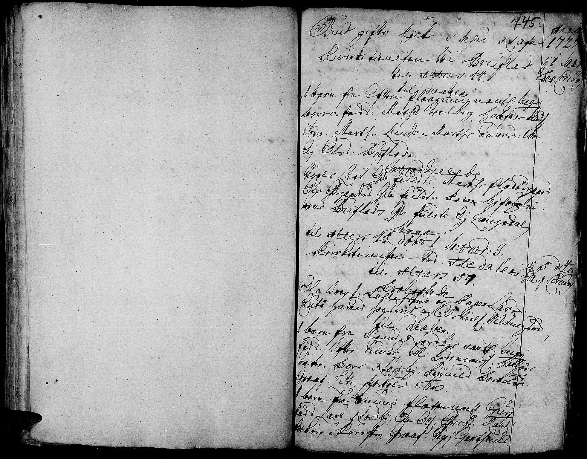 SAH, Aurdal prestekontor, Ministerialbok nr. 1-3, 1692-1730, s. 745