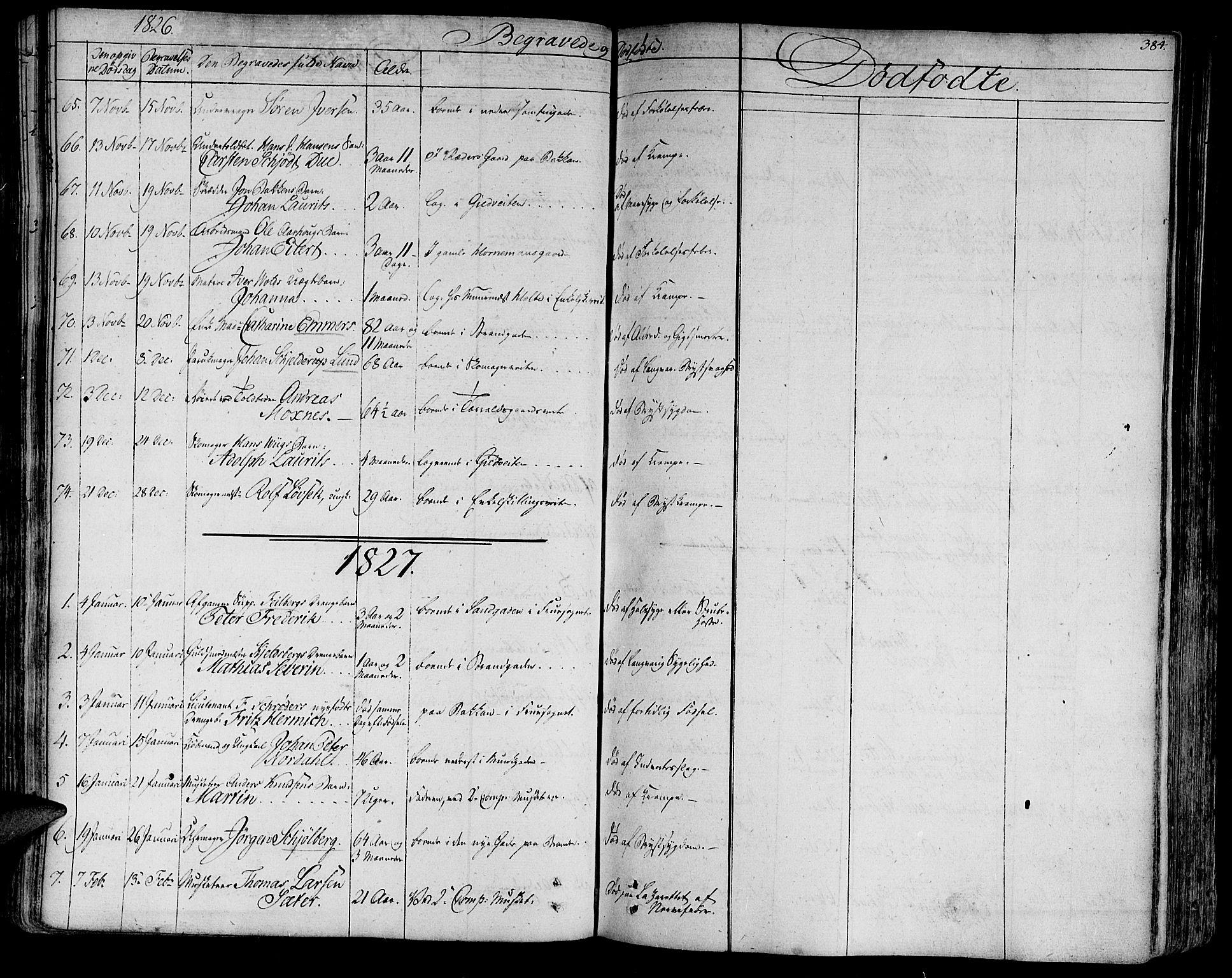 SAT, Ministerialprotokoller, klokkerbøker og fødselsregistre - Sør-Trøndelag, 602/L0109: Ministerialbok nr. 602A07, 1821-1840, s. 384