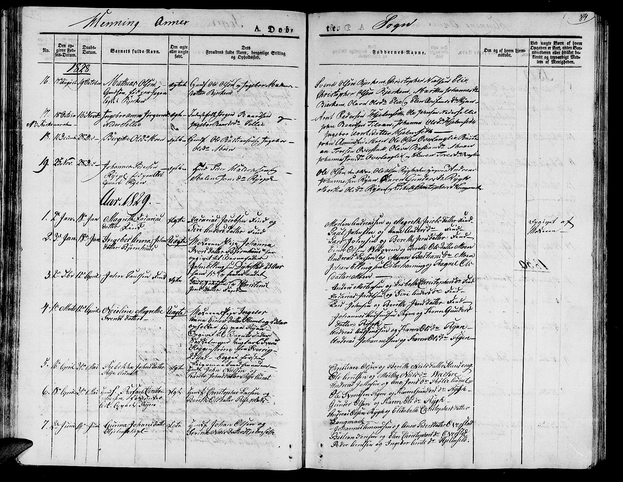 SAT, Ministerialprotokoller, klokkerbøker og fødselsregistre - Nord-Trøndelag, 735/L0336: Ministerialbok nr. 735A05 /3, 1825-1835, s. 84
