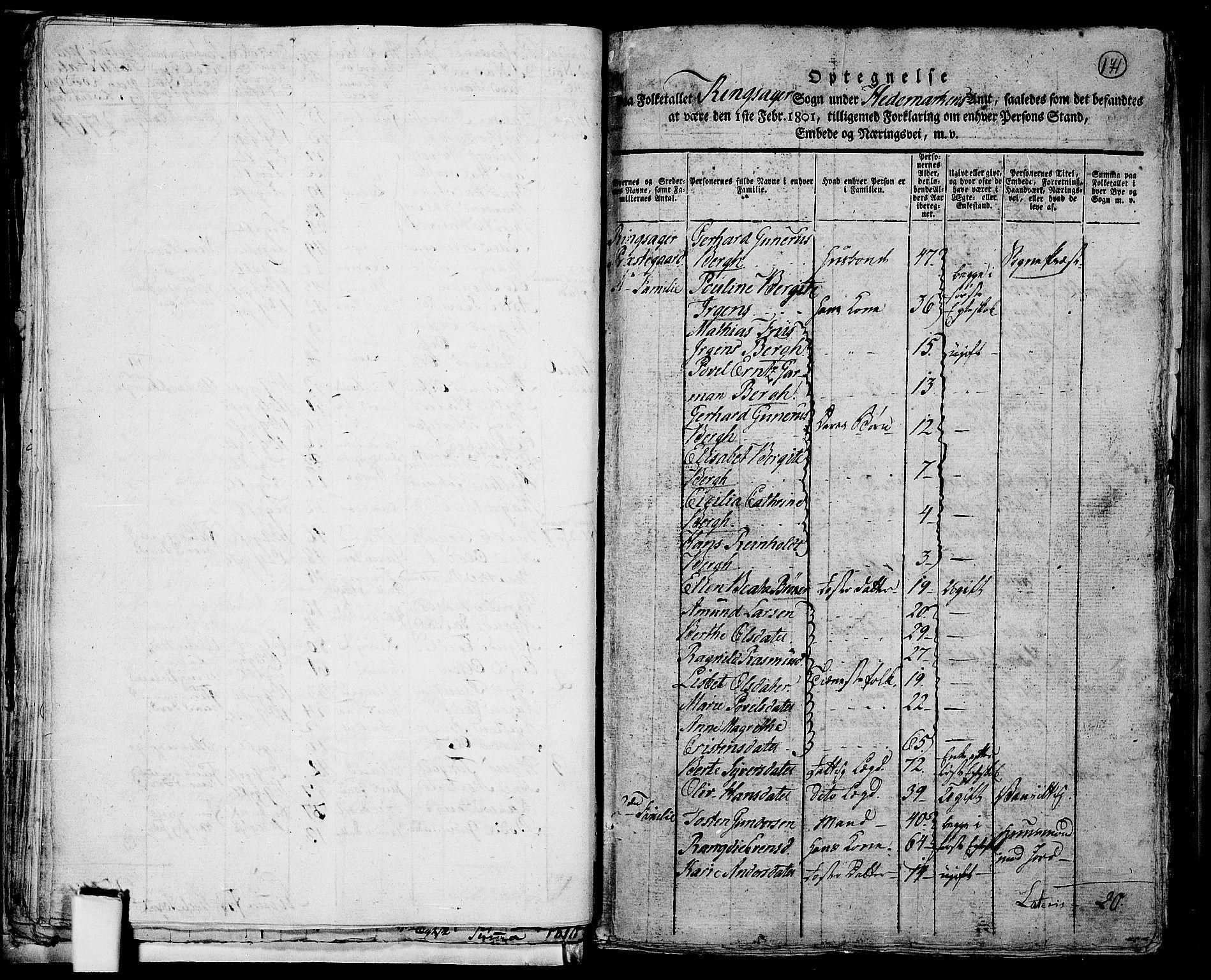 RA, Folketelling 1801 for 0412P Ringsaker prestegjeld, 1801, s. 170b-171a