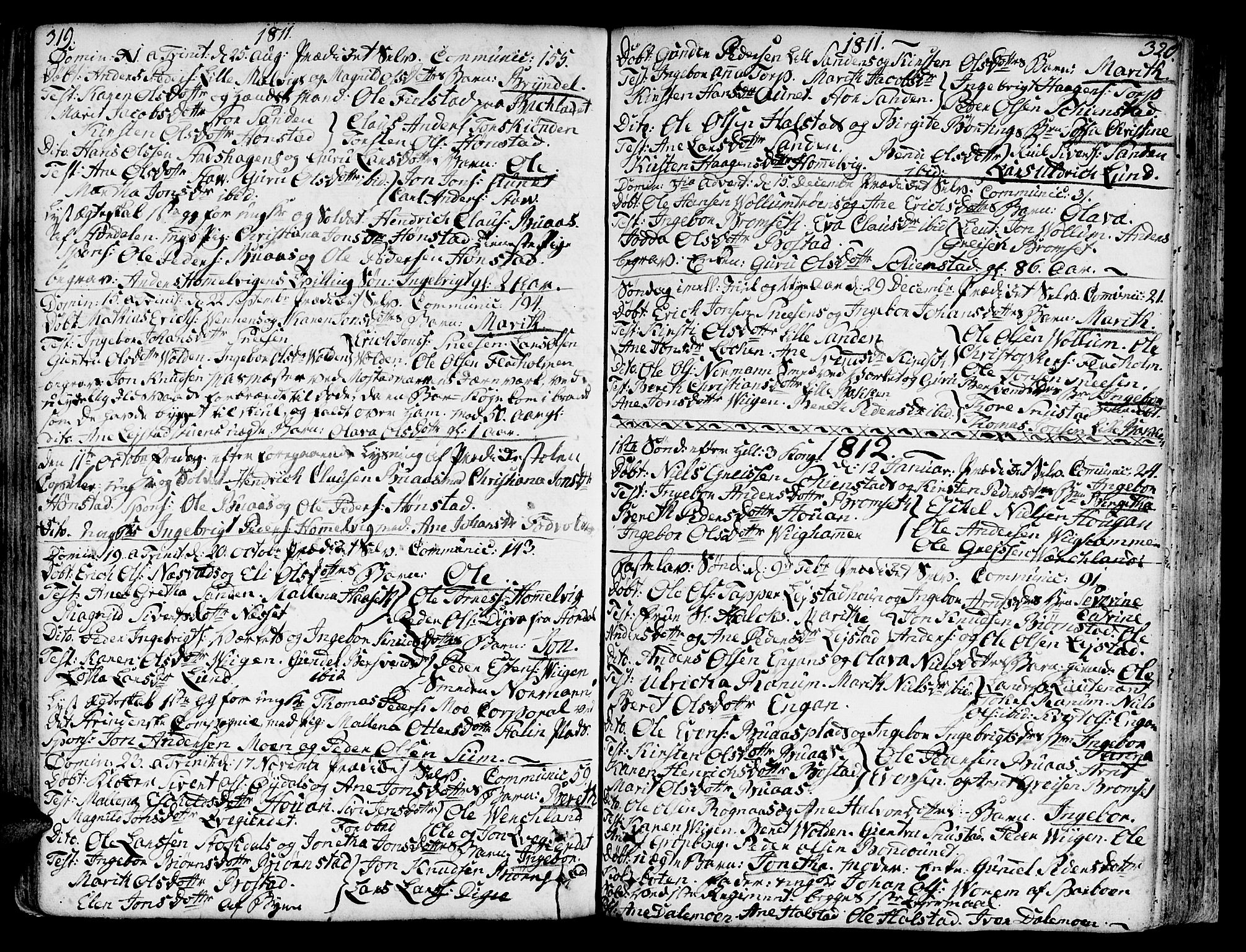 SAT, Ministerialprotokoller, klokkerbøker og fødselsregistre - Sør-Trøndelag, 606/L0281: Ministerialbok nr. 606A02 /2, 1781-1817, s. 319-320