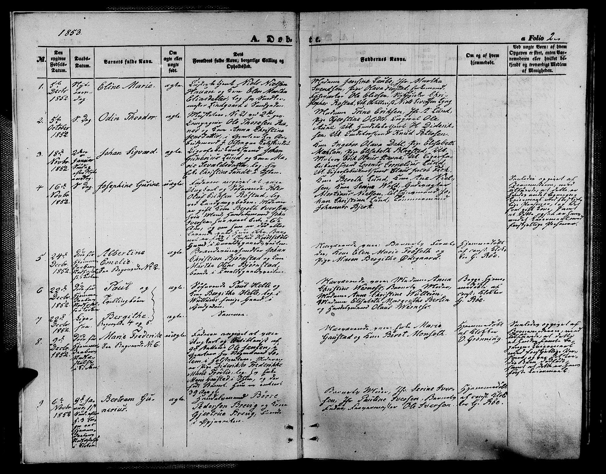 SAT, Ministerialprotokoller, klokkerbøker og fødselsregistre - Sør-Trøndelag, 602/L0138: Klokkerbok nr. 602C06, 1853-1858, s. 2