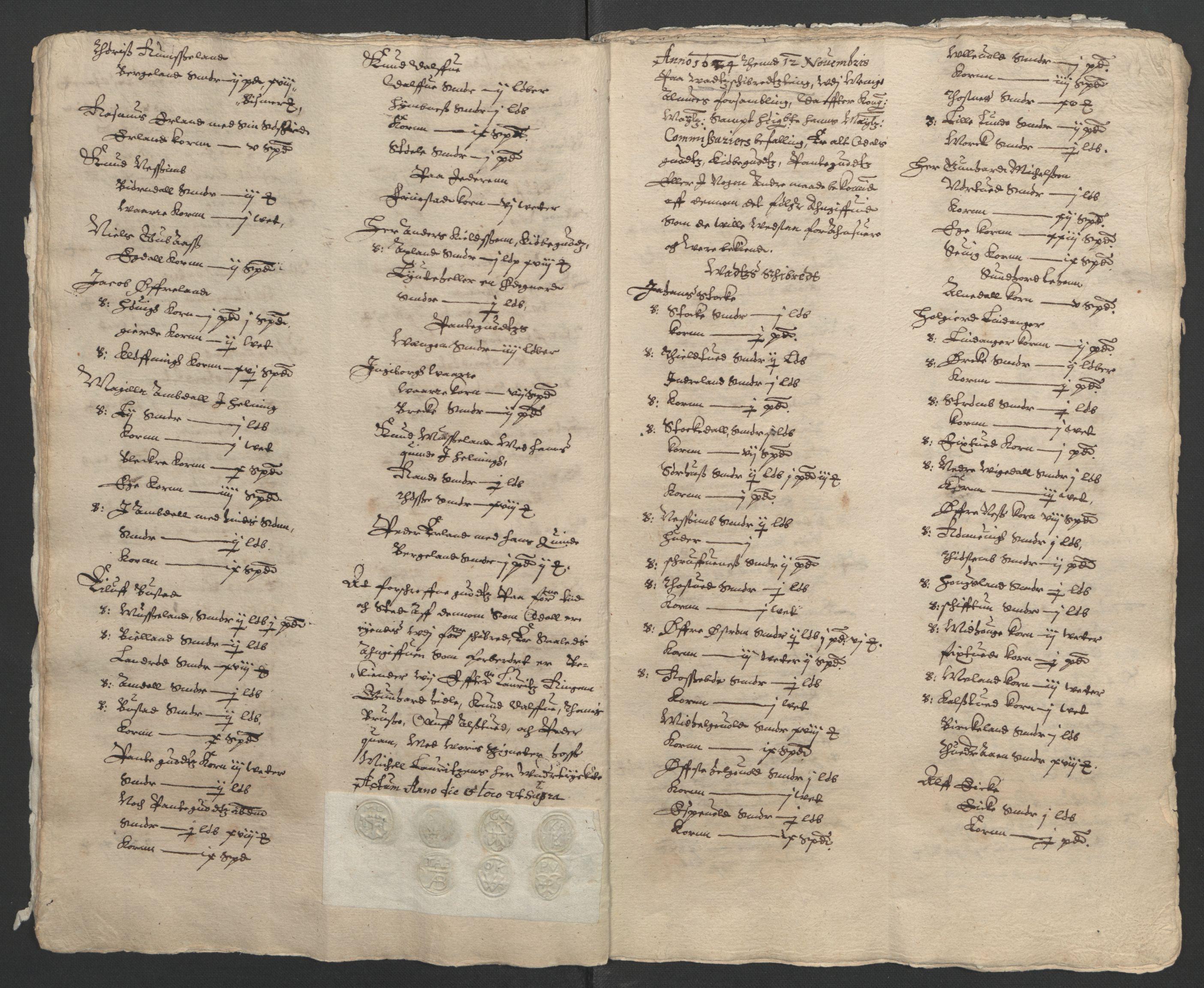 RA, Stattholderembetet 1572-1771, Ek/L0010: Jordebøker til utlikning av rosstjeneste 1624-1626:, 1624-1626, s. 14
