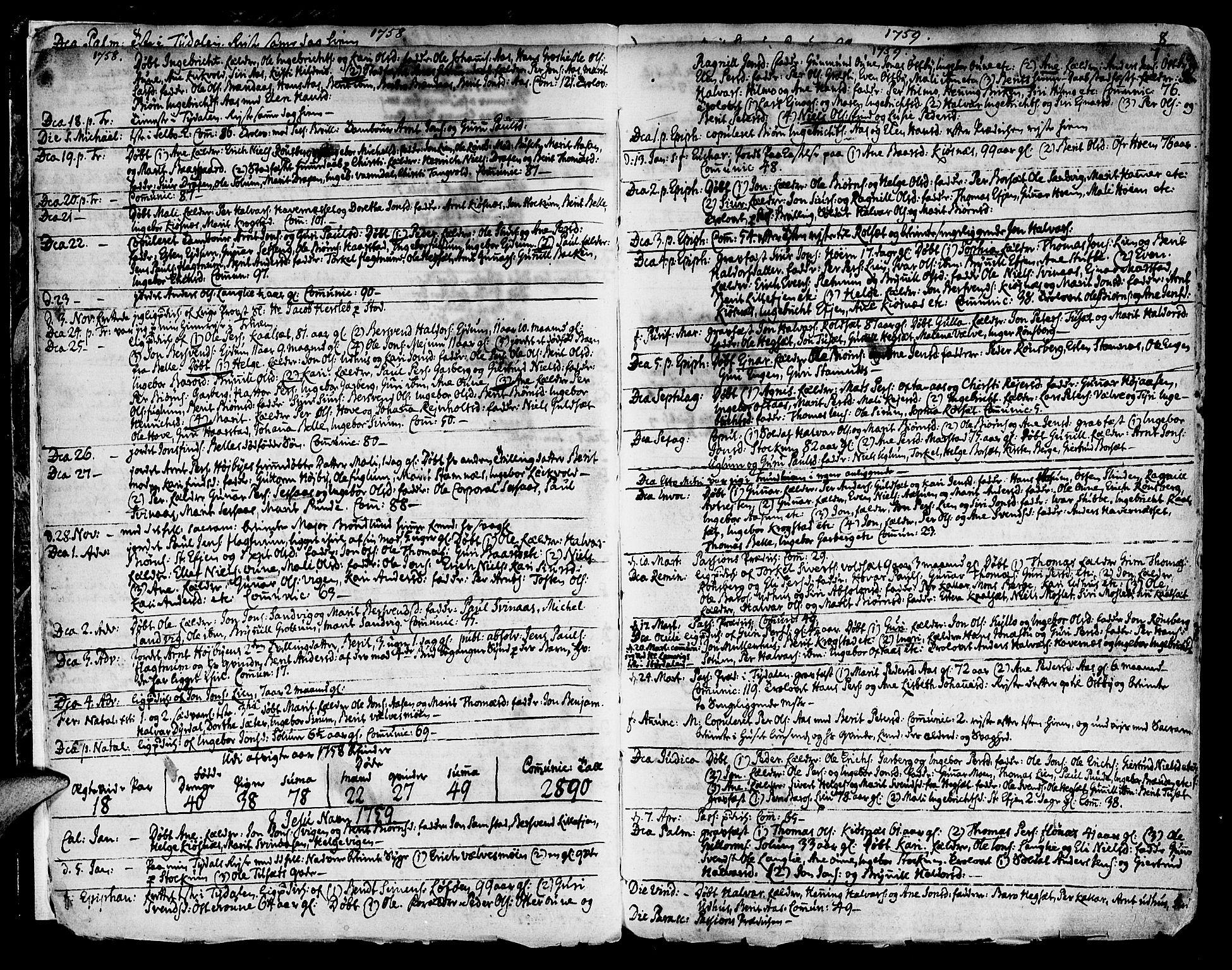 SAT, Ministerialprotokoller, klokkerbøker og fødselsregistre - Sør-Trøndelag, 695/L1138: Ministerialbok nr. 695A02 /1, 1757-1801, s. 7