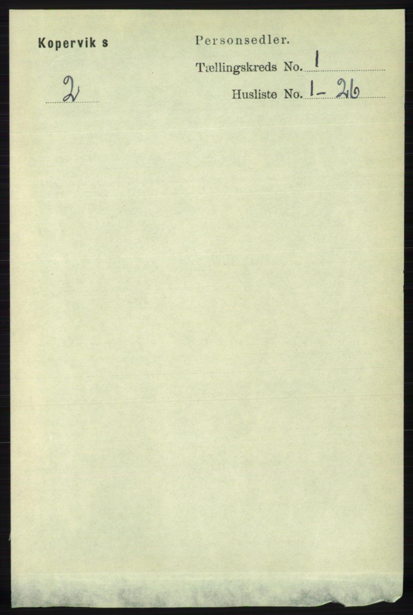 RA, Folketelling 1891 for 1147 Avaldsnes herred, 1891, s. 168