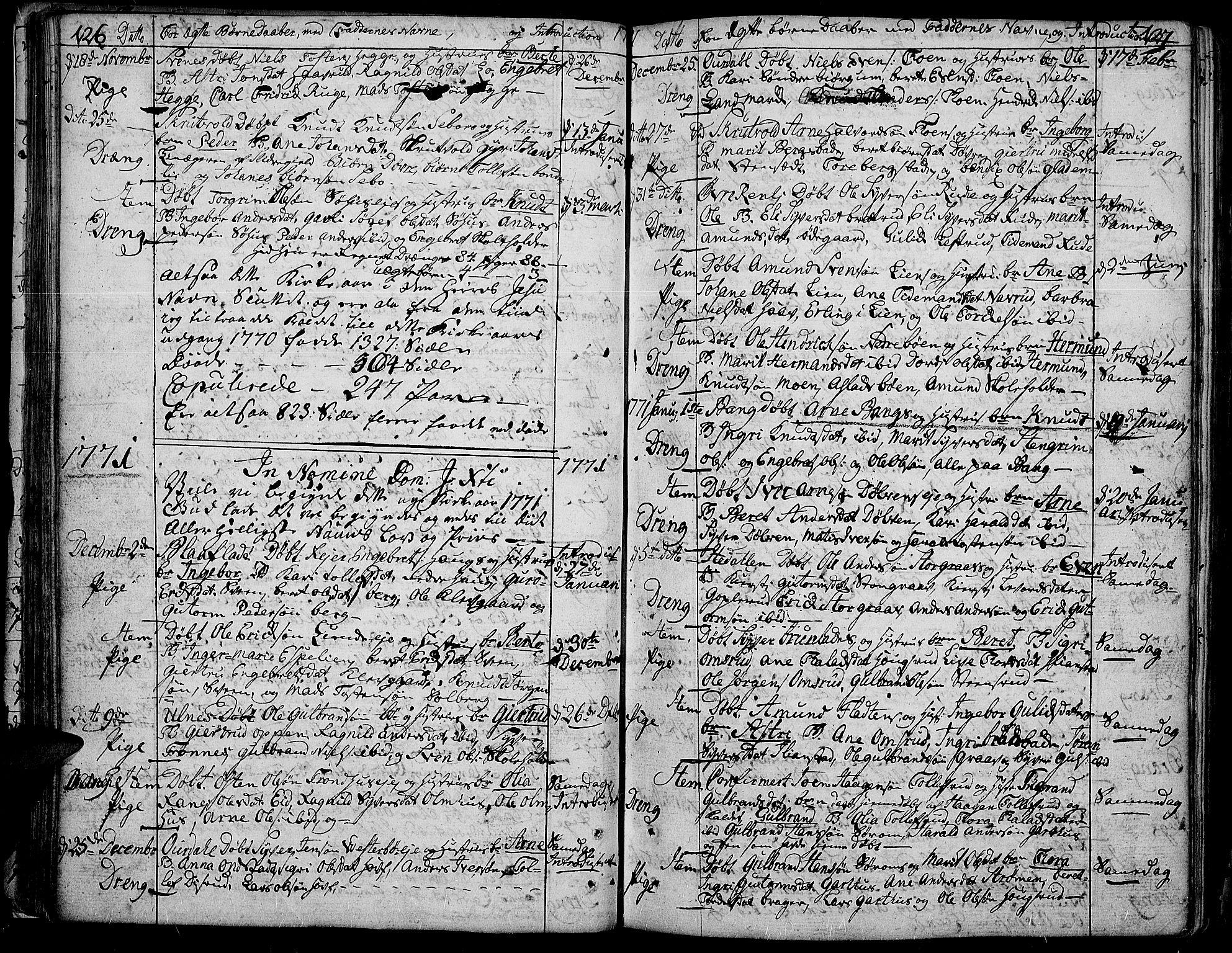 SAH, Aurdal prestekontor, Ministerialbok nr. 5, 1763-1781, s. 126-127
