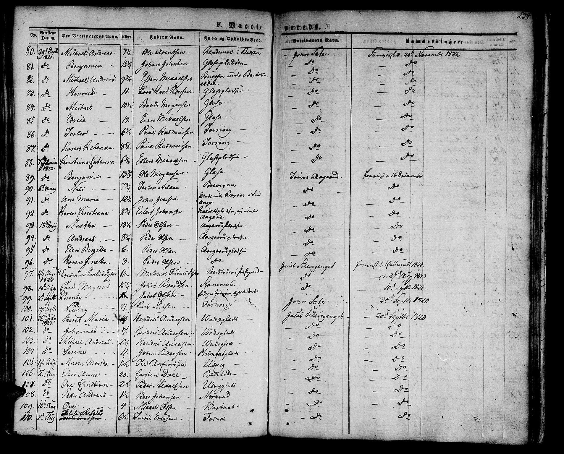 SAT, Ministerialprotokoller, klokkerbøker og fødselsregistre - Nord-Trøndelag, 741/L0390: Ministerialbok nr. 741A04, 1822-1836, s. 234