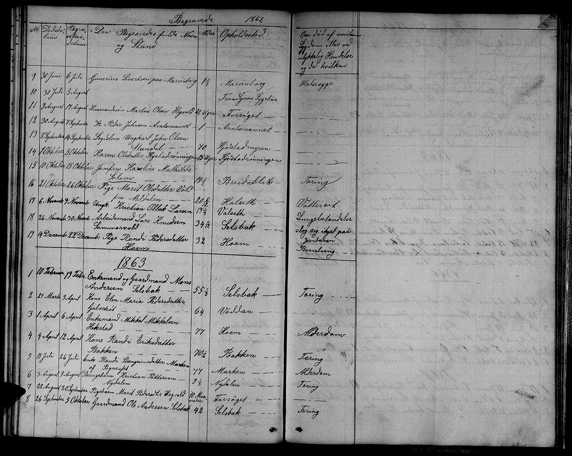 SAT, Ministerialprotokoller, klokkerbøker og fødselsregistre - Sør-Trøndelag, 611/L0353: Klokkerbok nr. 611C01, 1854-1881, s. 123