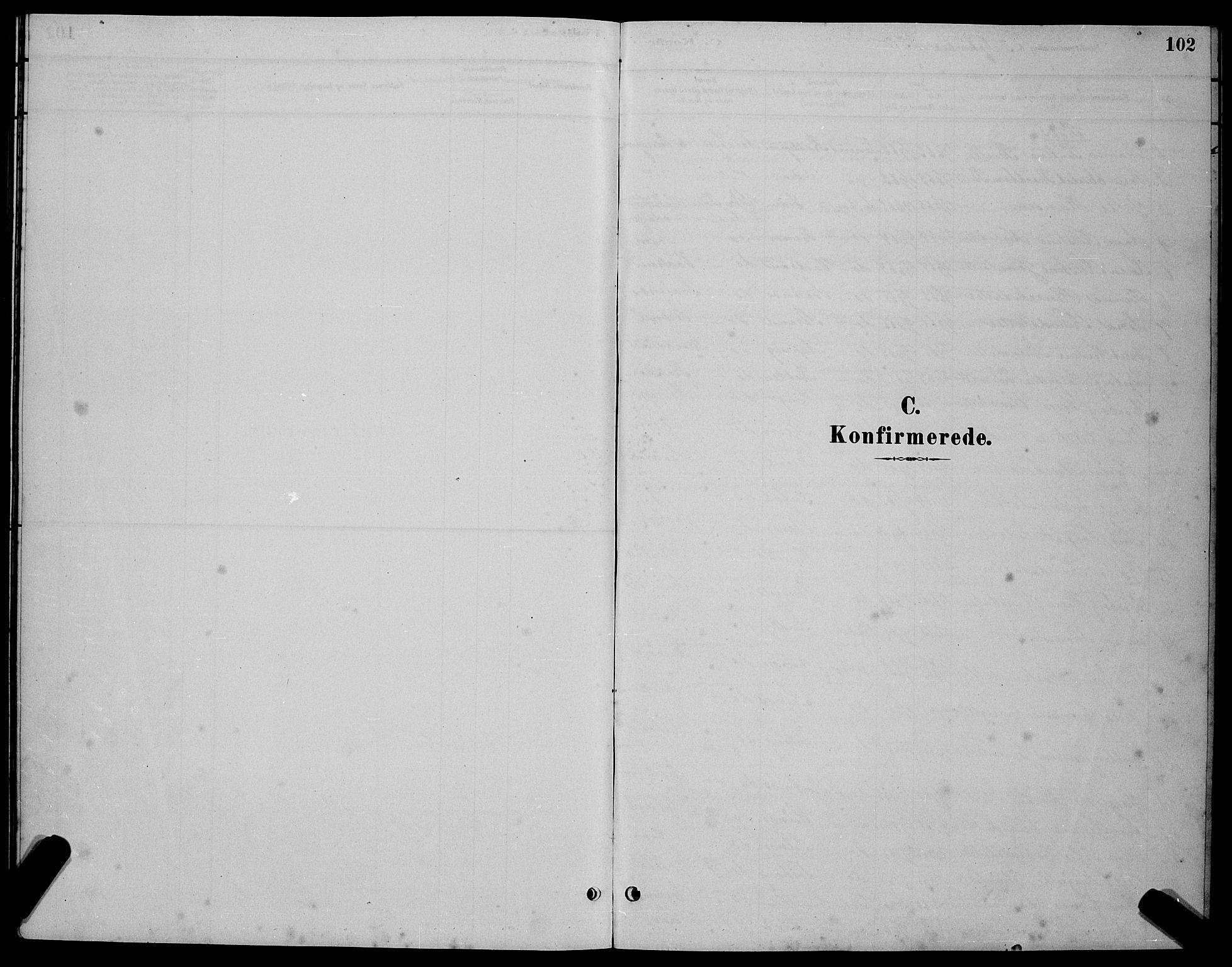 SAT, Ministerialprotokoller, klokkerbøker og fødselsregistre - Sør-Trøndelag, 655/L0687: Klokkerbok nr. 655C03, 1880-1898, s. 102