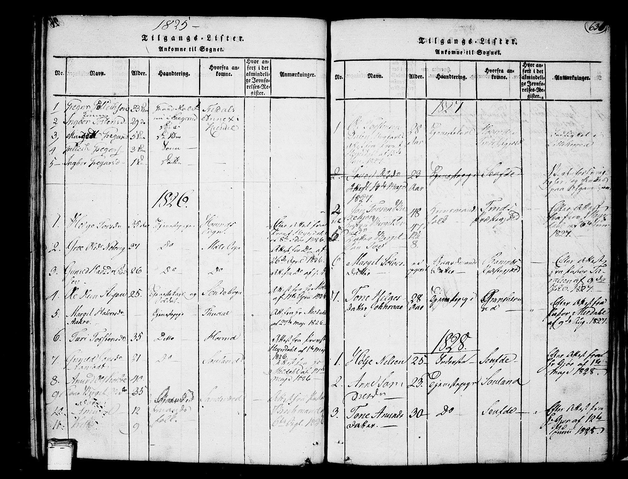 SAKO, Heddal kirkebøker, F/Fa/L0005: Ministerialbok nr. I 5, 1814-1837, s. 629-630