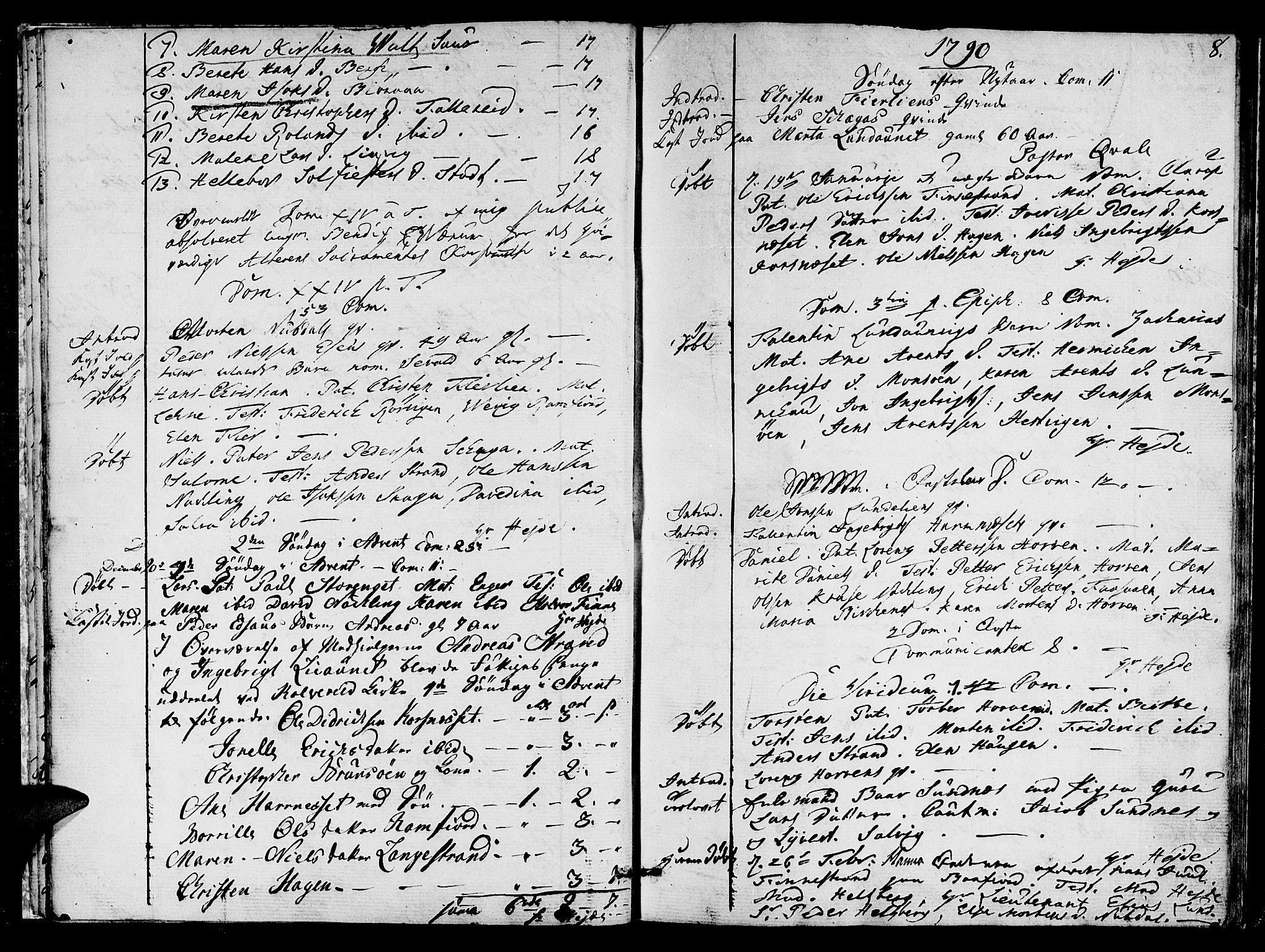 SAT, Ministerialprotokoller, klokkerbøker og fødselsregistre - Nord-Trøndelag, 780/L0633: Ministerialbok nr. 780A02 /1, 1787-1814, s. 8