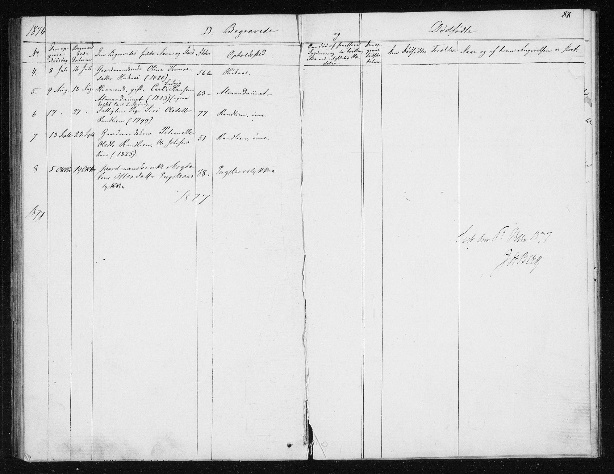 SAT, Ministerialprotokoller, klokkerbøker og fødselsregistre - Sør-Trøndelag, 608/L0333: Ministerialbok nr. 608A02, 1862-1876, s. 88