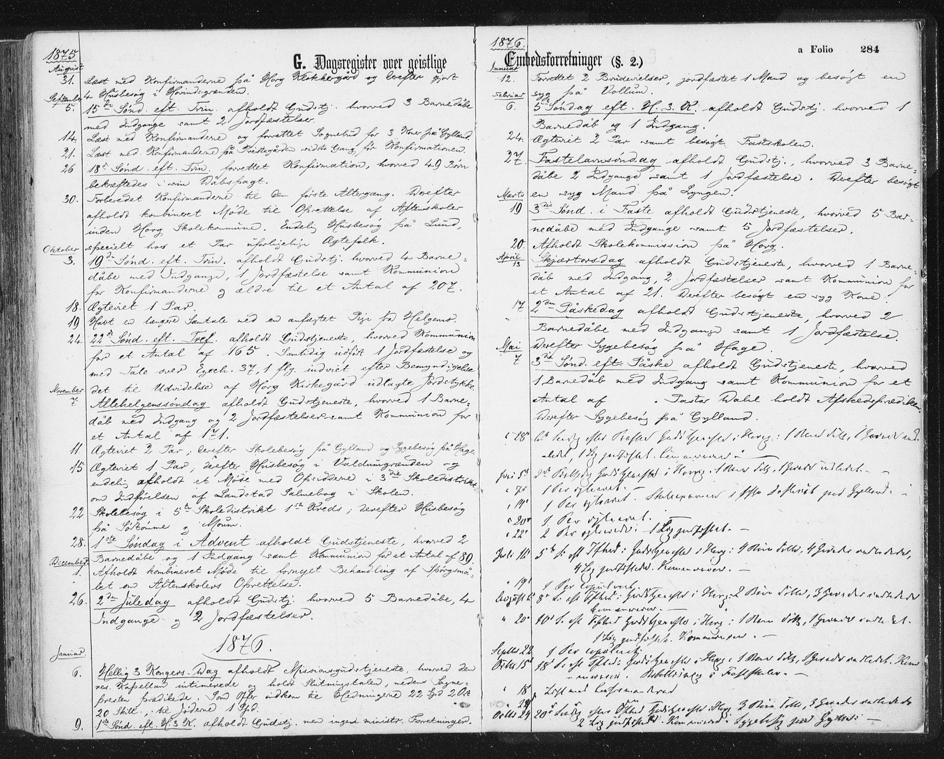 SAT, Ministerialprotokoller, klokkerbøker og fødselsregistre - Sør-Trøndelag, 692/L1104: Ministerialbok nr. 692A04, 1862-1878, s. 284