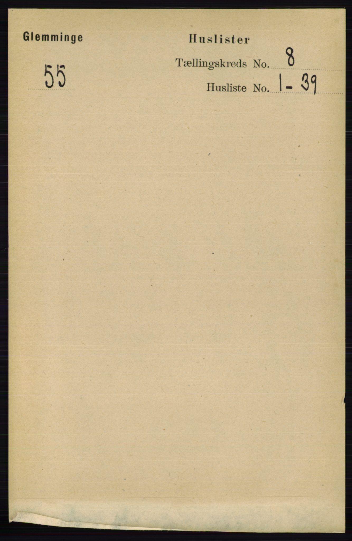RA, Folketelling 1891 for 0132 Glemmen herred, 1891, s. 9263