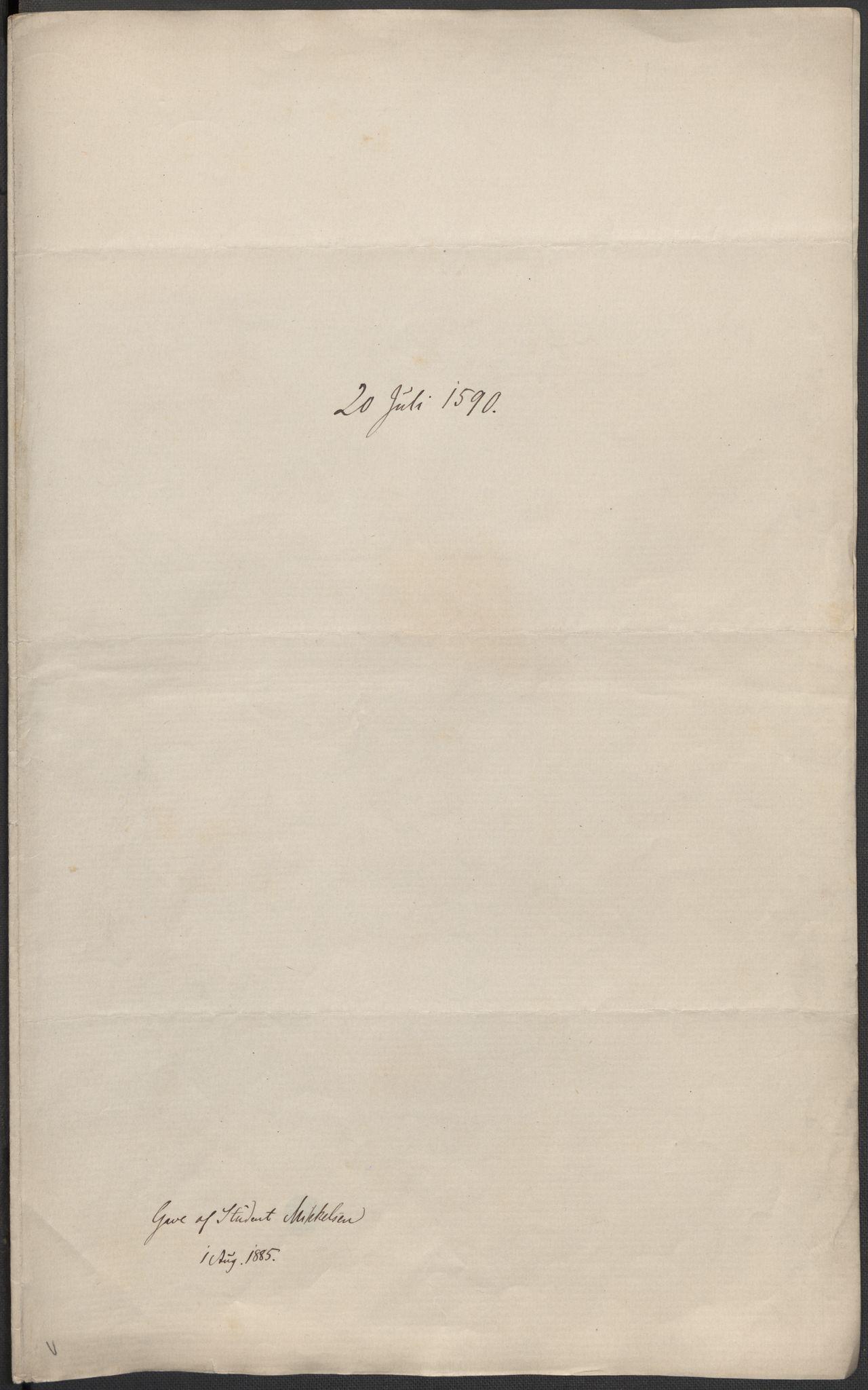 RA, Riksarkivets diplomsamling, F02/L0092: Dokumenter, 1590, s. 2