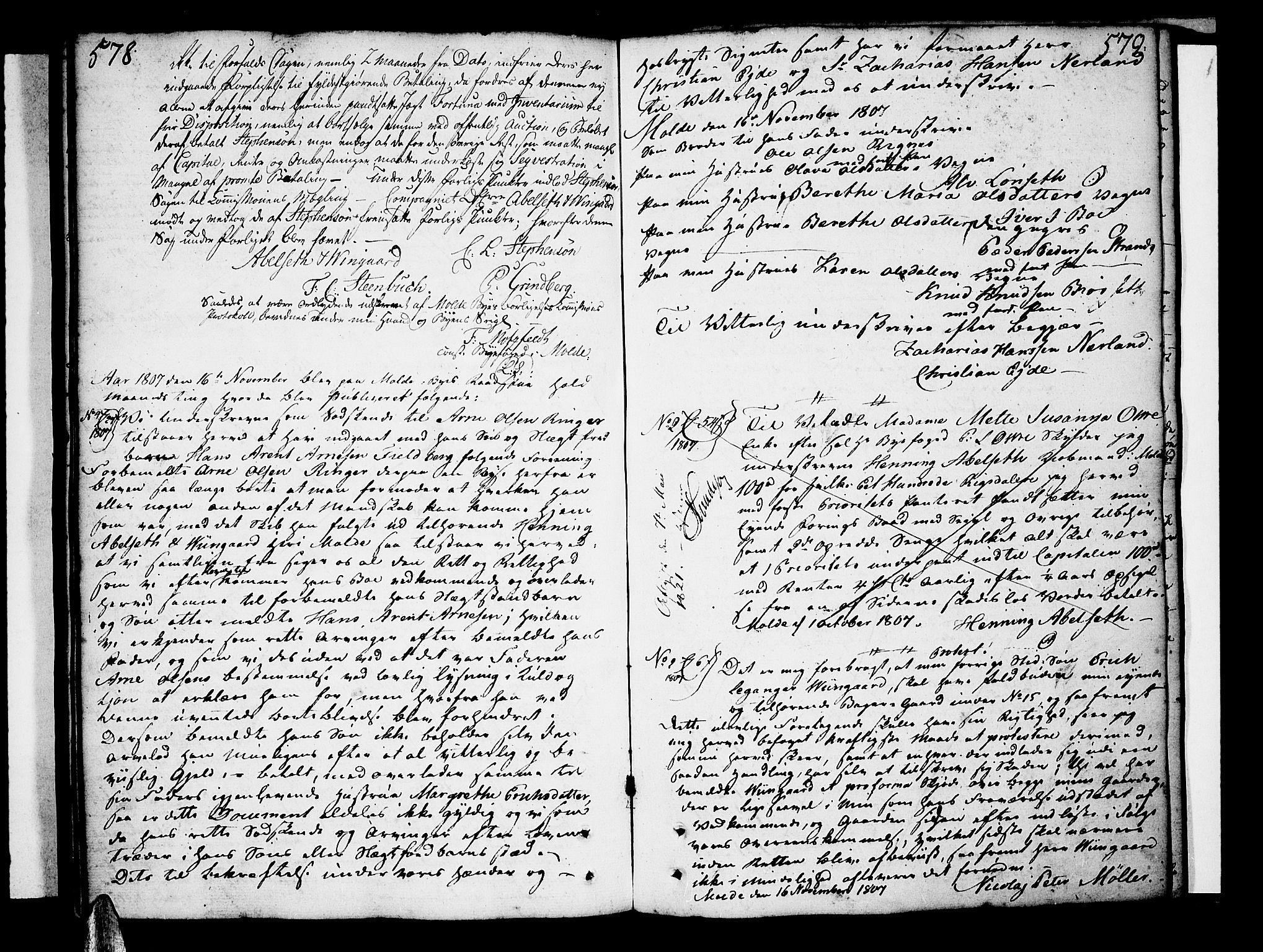 SAT, Molde byfogd, 2/2C/L0001: Pantebok nr. 1, 1748-1823, s. 578-579