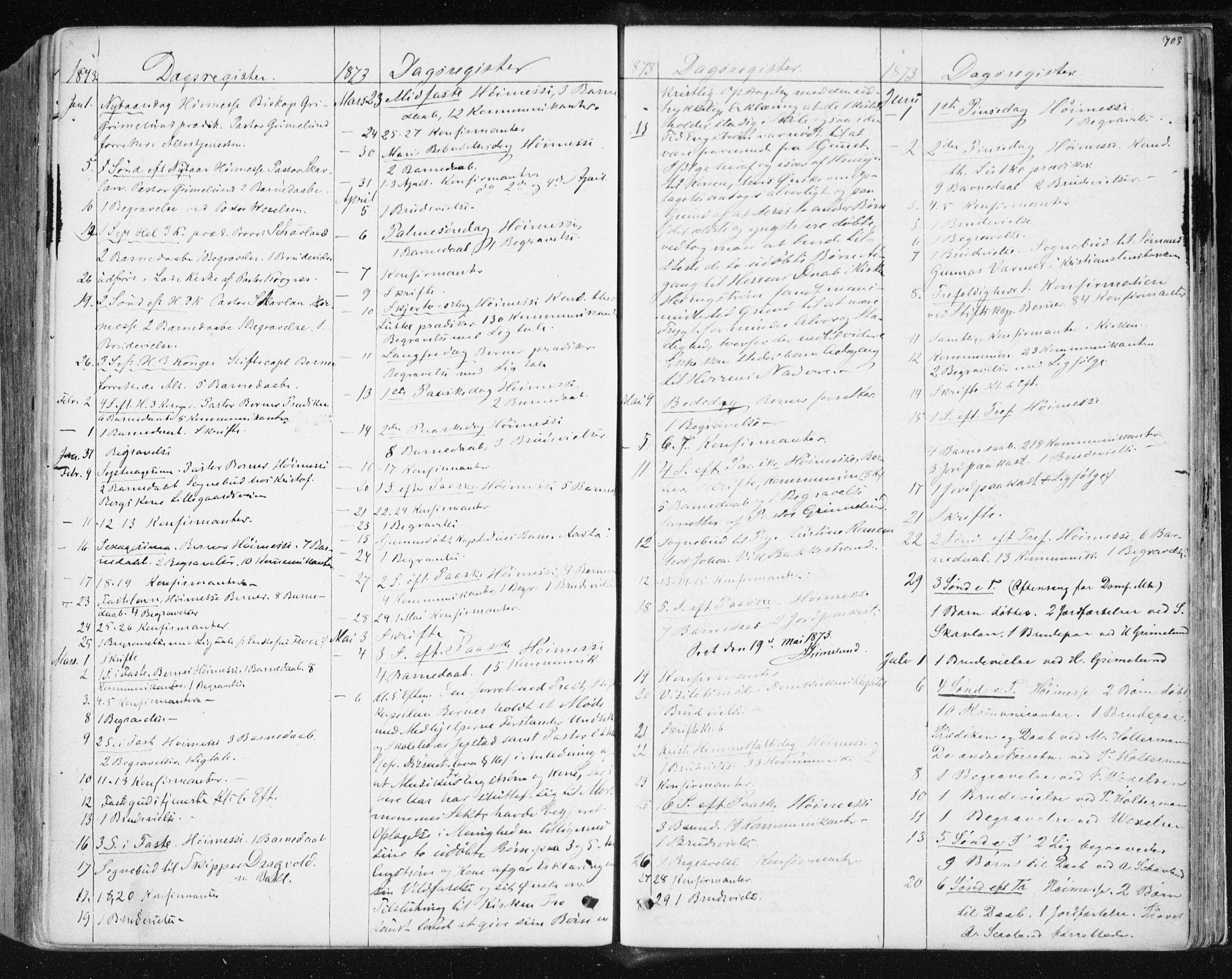 SAT, Ministerialprotokoller, klokkerbøker og fødselsregistre - Sør-Trøndelag, 604/L0186: Ministerialbok nr. 604A07, 1866-1877, s. 703