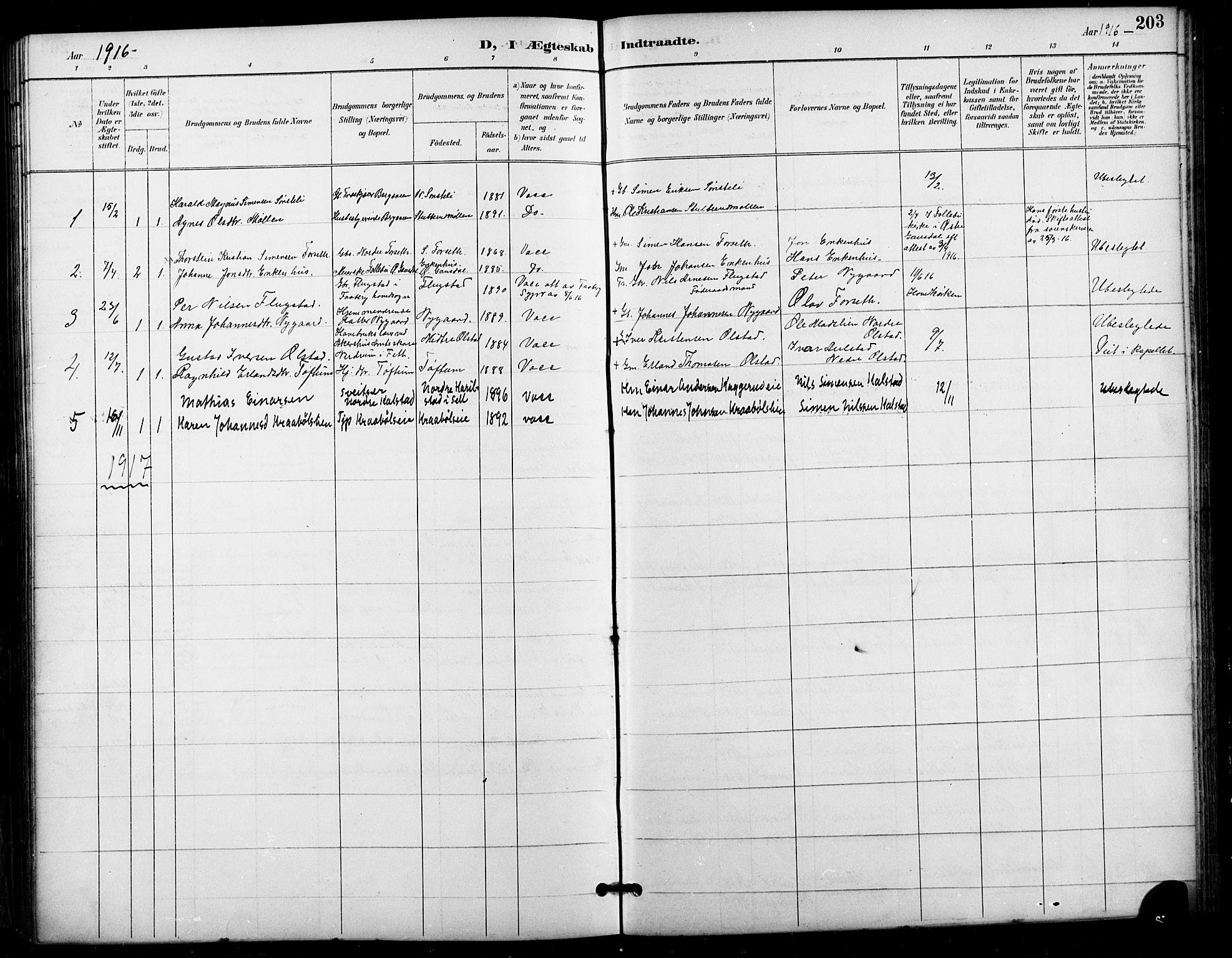SAH, Vestre Gausdal prestekontor, Klokkerbok nr. 3, 1896-1925, s. 203