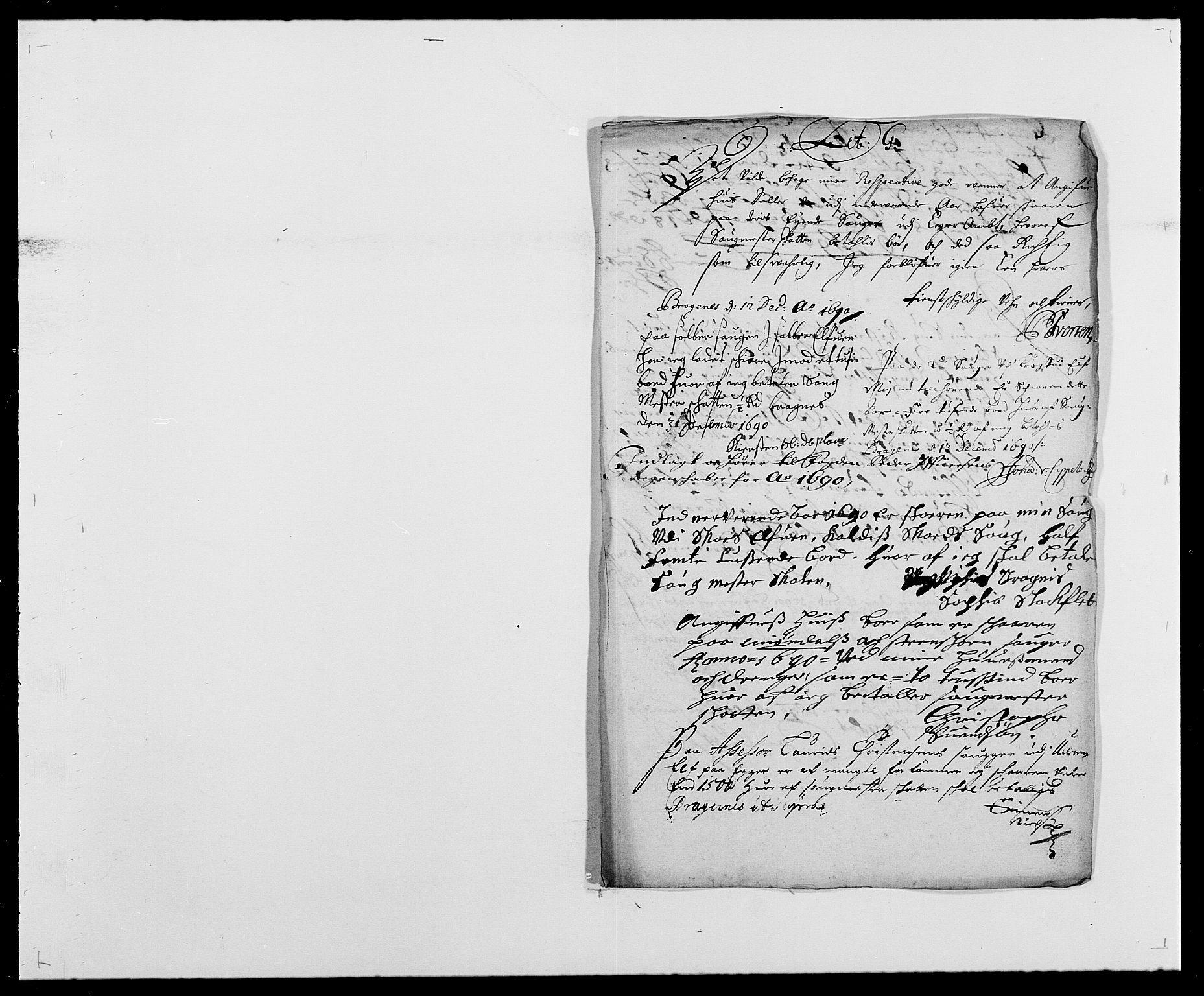 RA, Rentekammeret inntil 1814, Reviderte regnskaper, Fogderegnskap, R28/L1689: Fogderegnskap Eiker og Lier, 1690-1691, s. 95