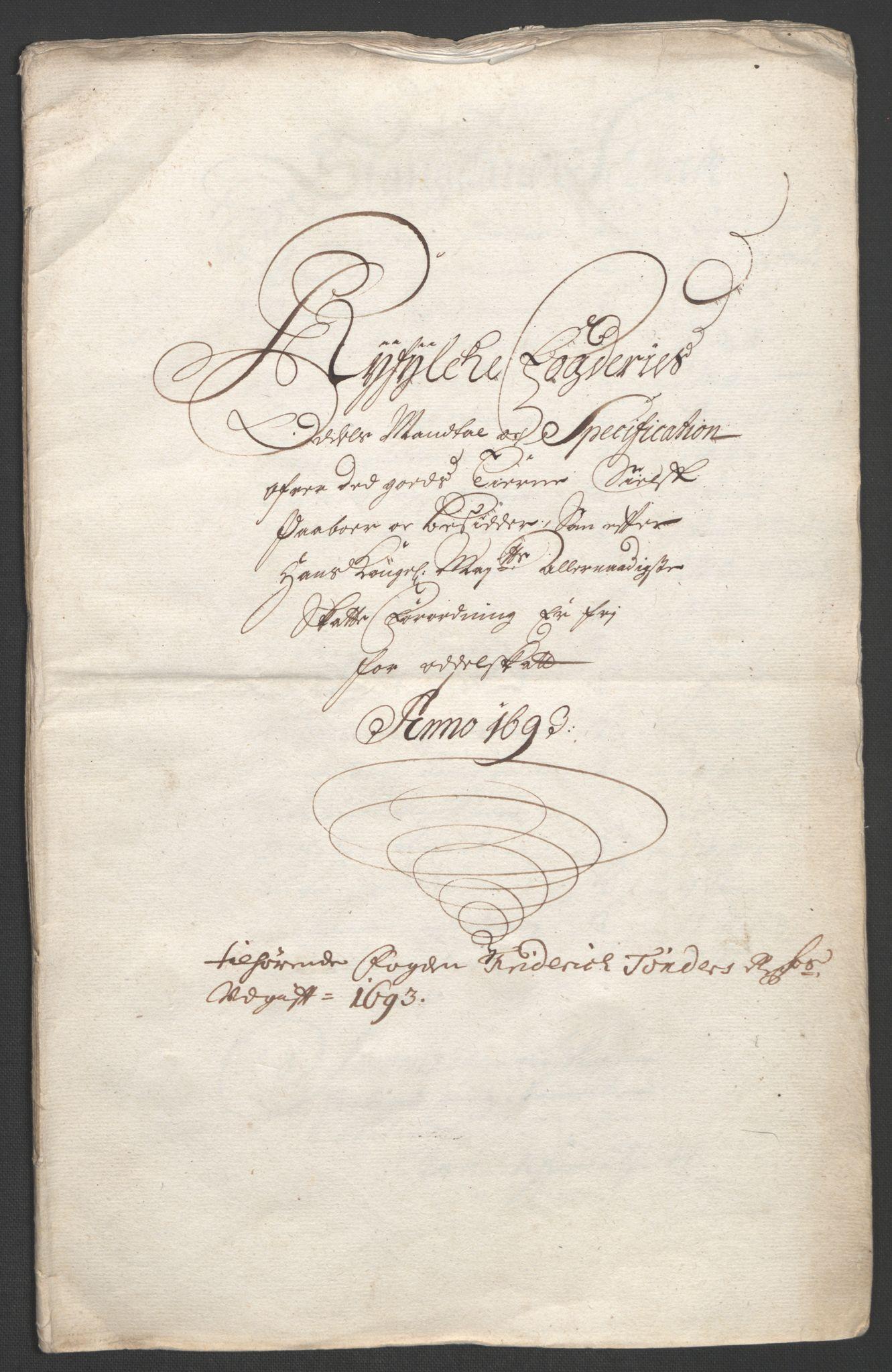 RA, Rentekammeret inntil 1814, Reviderte regnskaper, Fogderegnskap, R47/L2856: Fogderegnskap Ryfylke, 1689-1693, s. 649