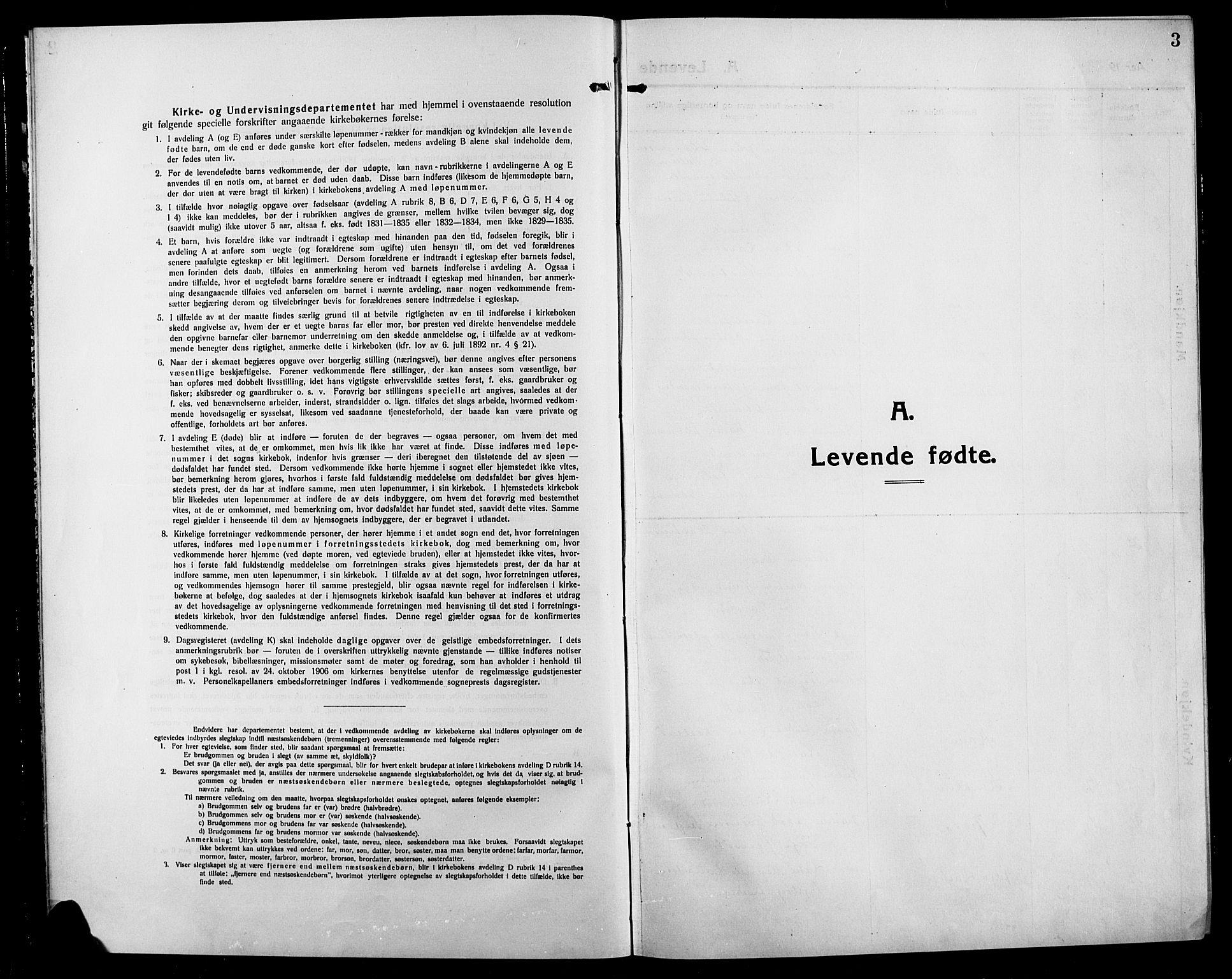 SAH, Søndre Land prestekontor, L/L0006: Klokkerbok nr. 6, 1912-1925, s. 3