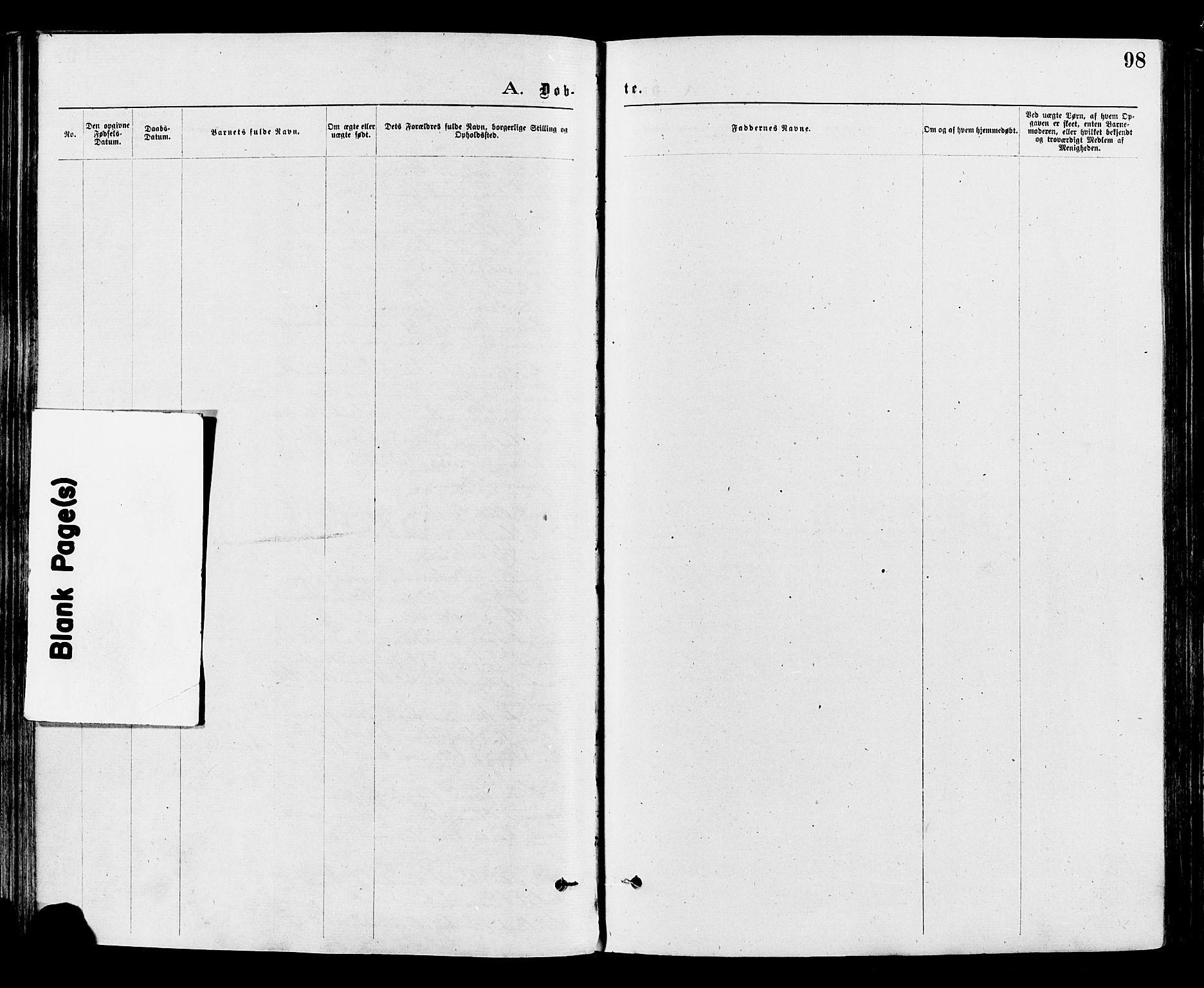 SAH, Nord-Aurdal prestekontor, Ministerialbok nr. 9, 1876-1882, s. 98