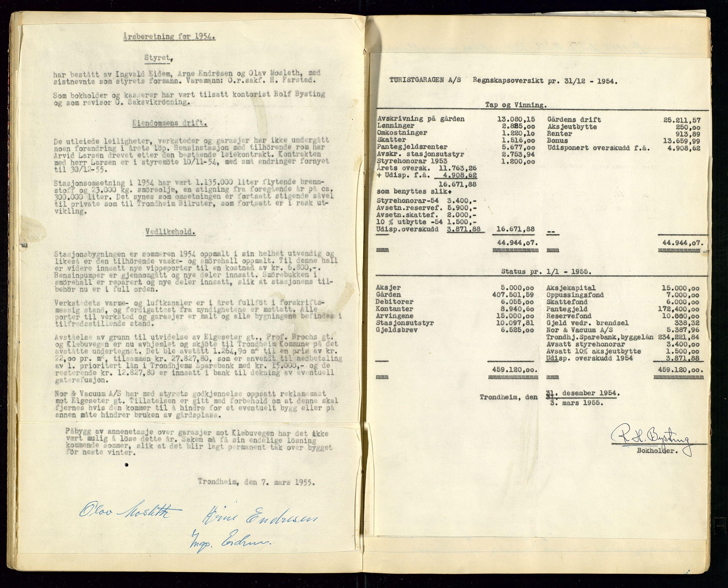 SAST, PA 1515 - Turistgarasjen A/S, A/L0001: Forhandlingsprotokoll, 1937-1958, s. 37
